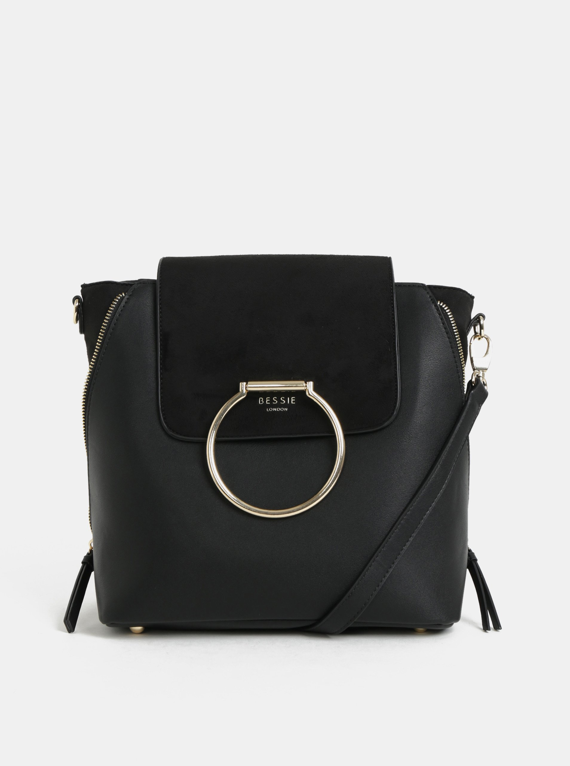 74a0bede87 Černá kabelka batoh Bessie London
