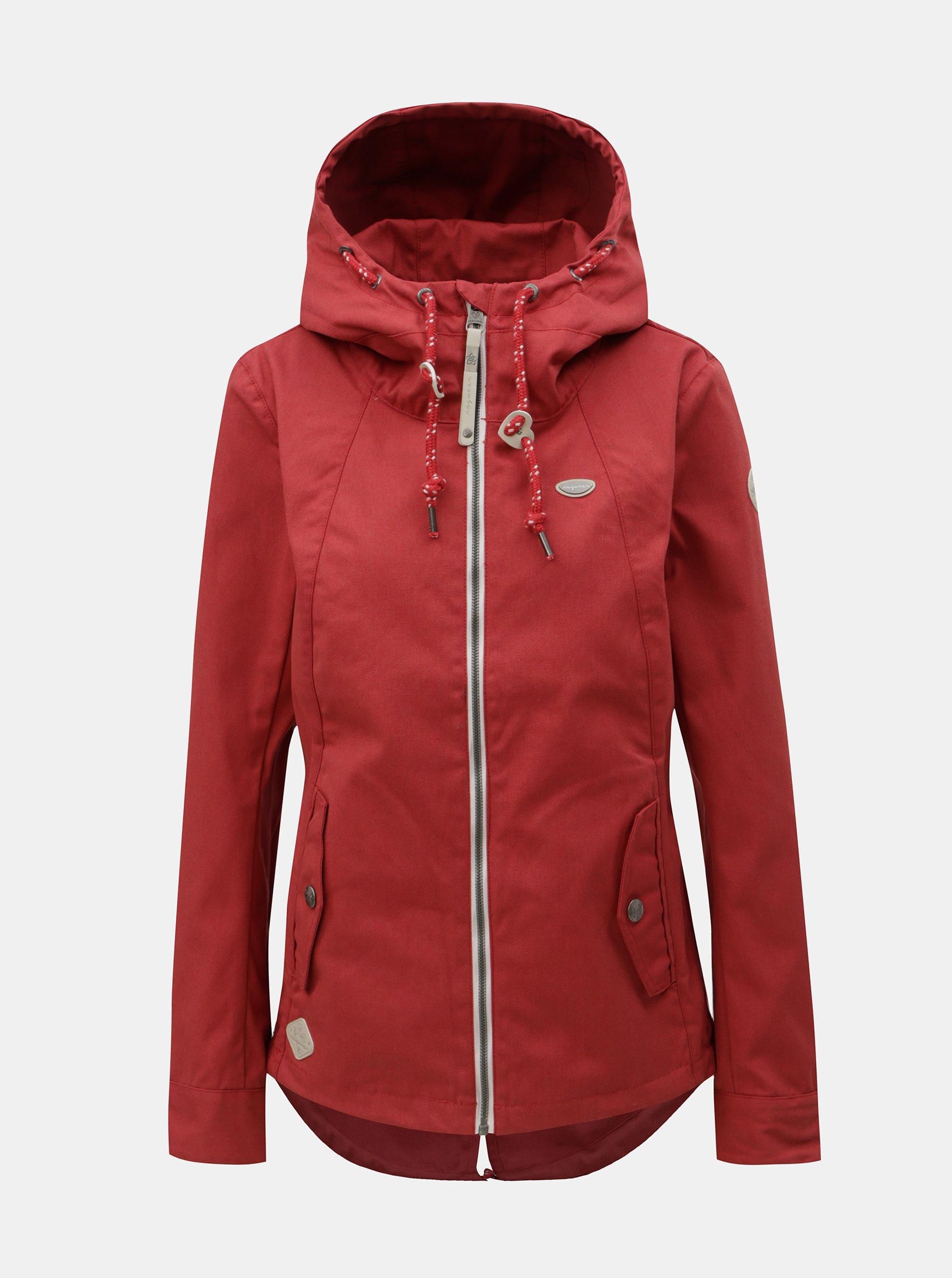 Fotografie Červená dámská bunda Ragwear Monade