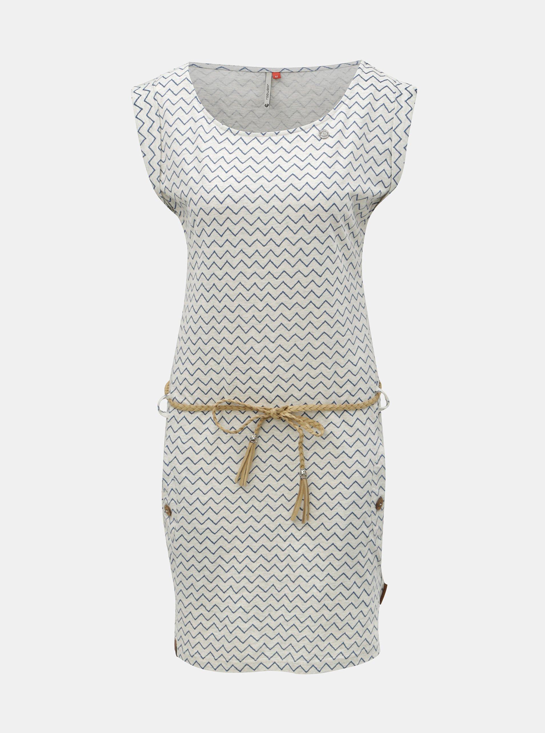 Světle šedé vzorované šaty s kapsami Ragwear Tag