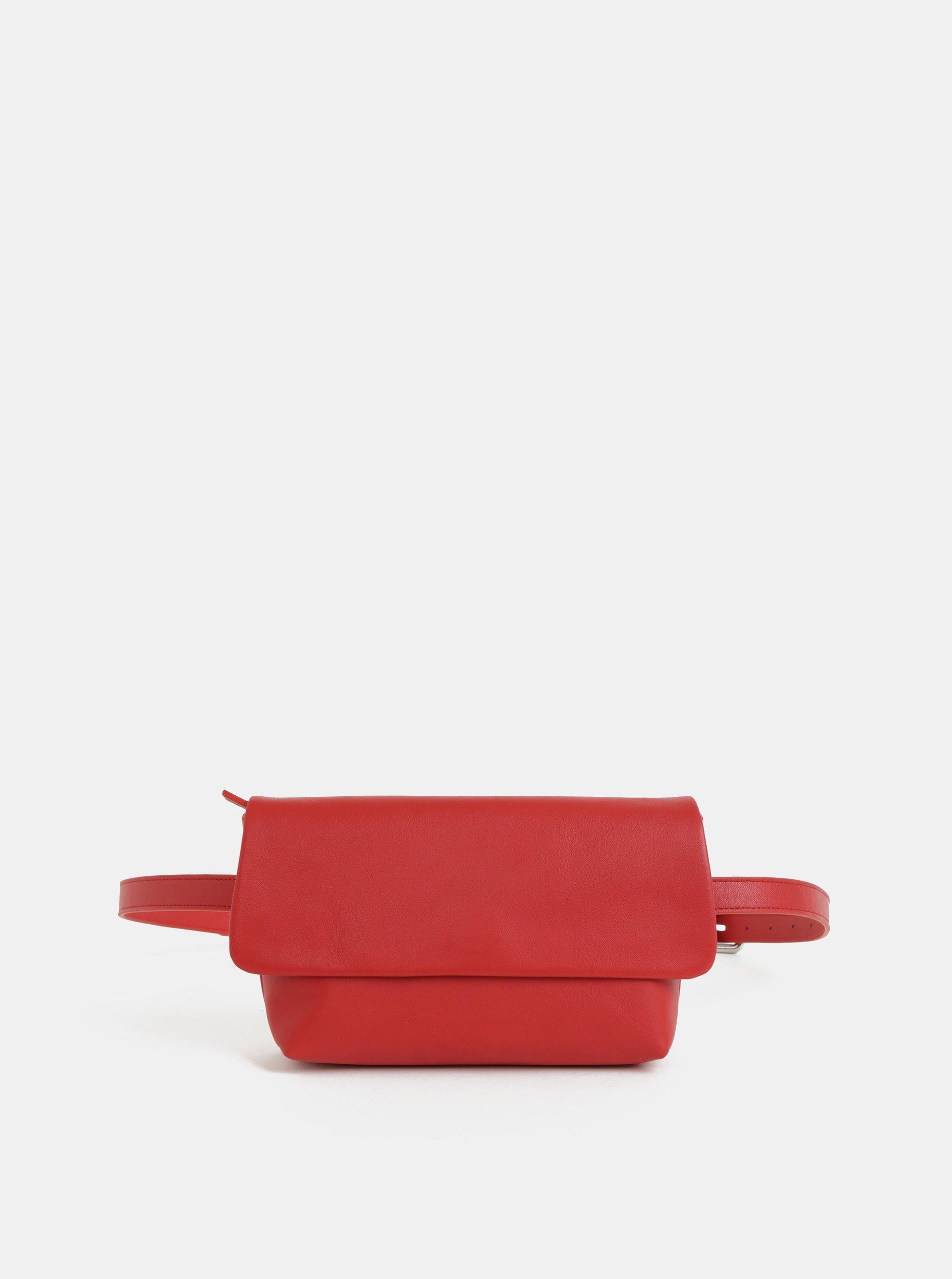 Červená dámska kožená ľadvinka Vagabond Copenhagen