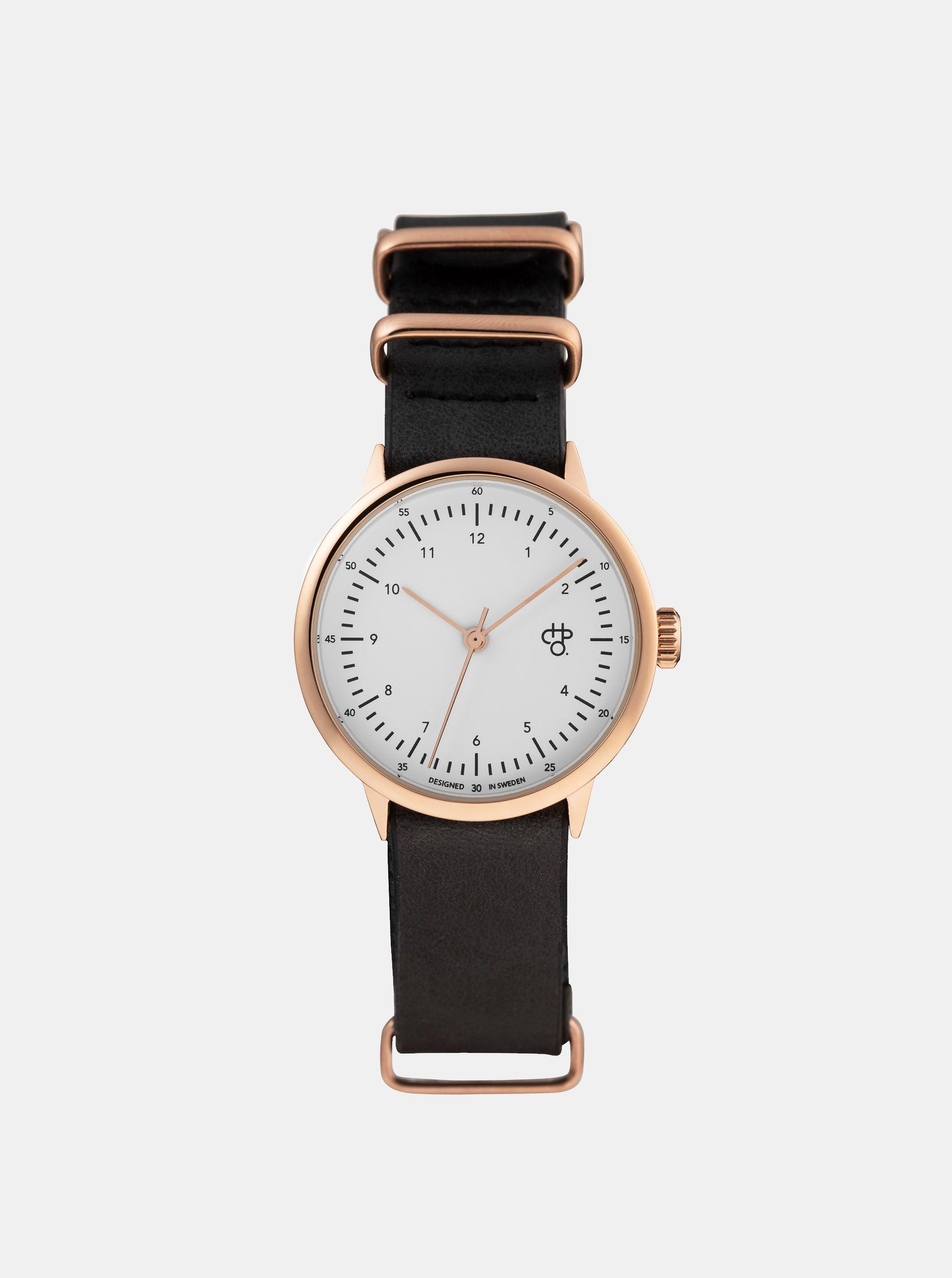 0cd3b82c2 Dámské hodinky s černým páskem z veganské kůže CHPO Harold Mini