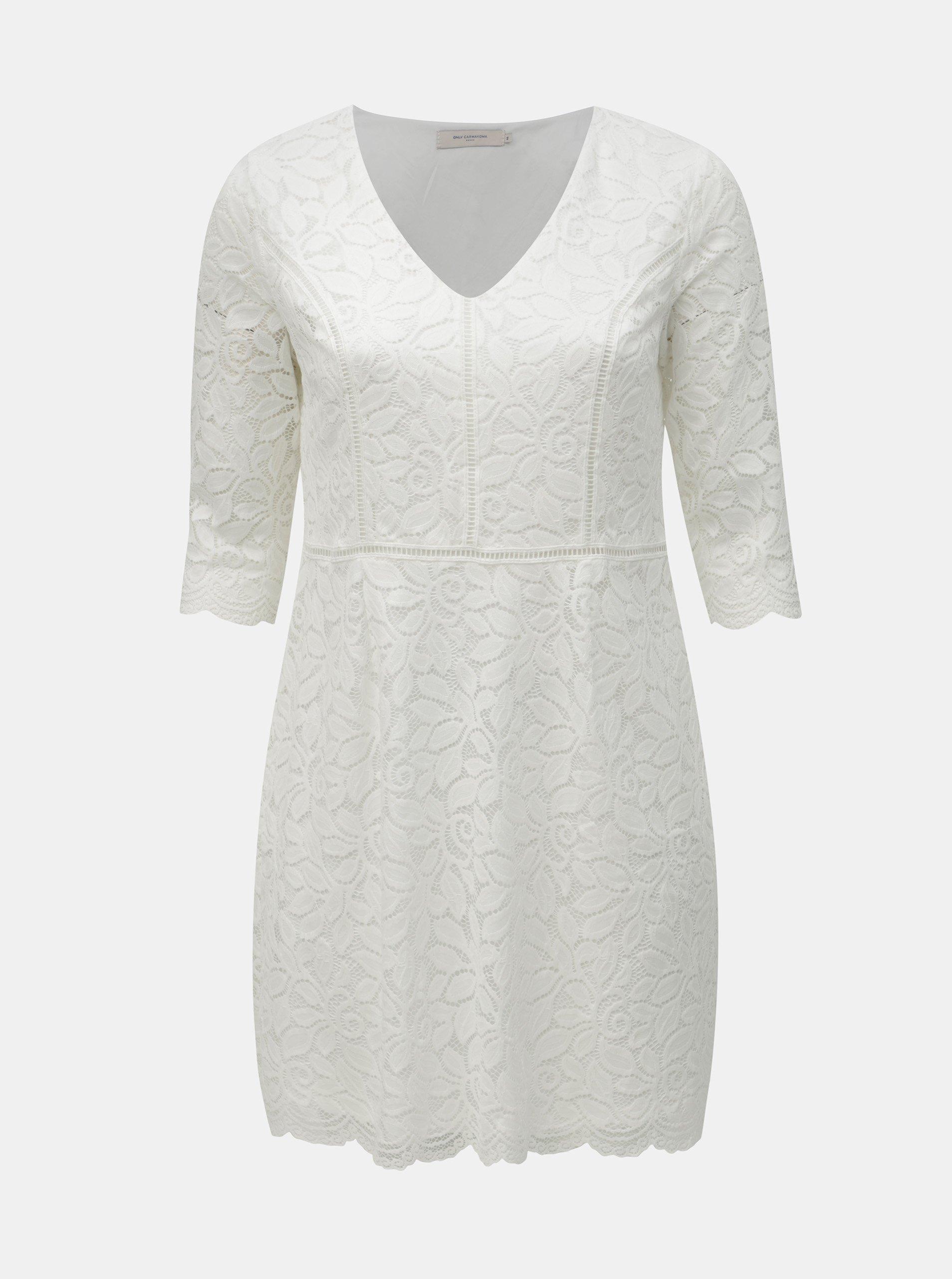 8a98e7b4b8fc Bílé krajkové šaty ONLY CARMAKOMA Samant