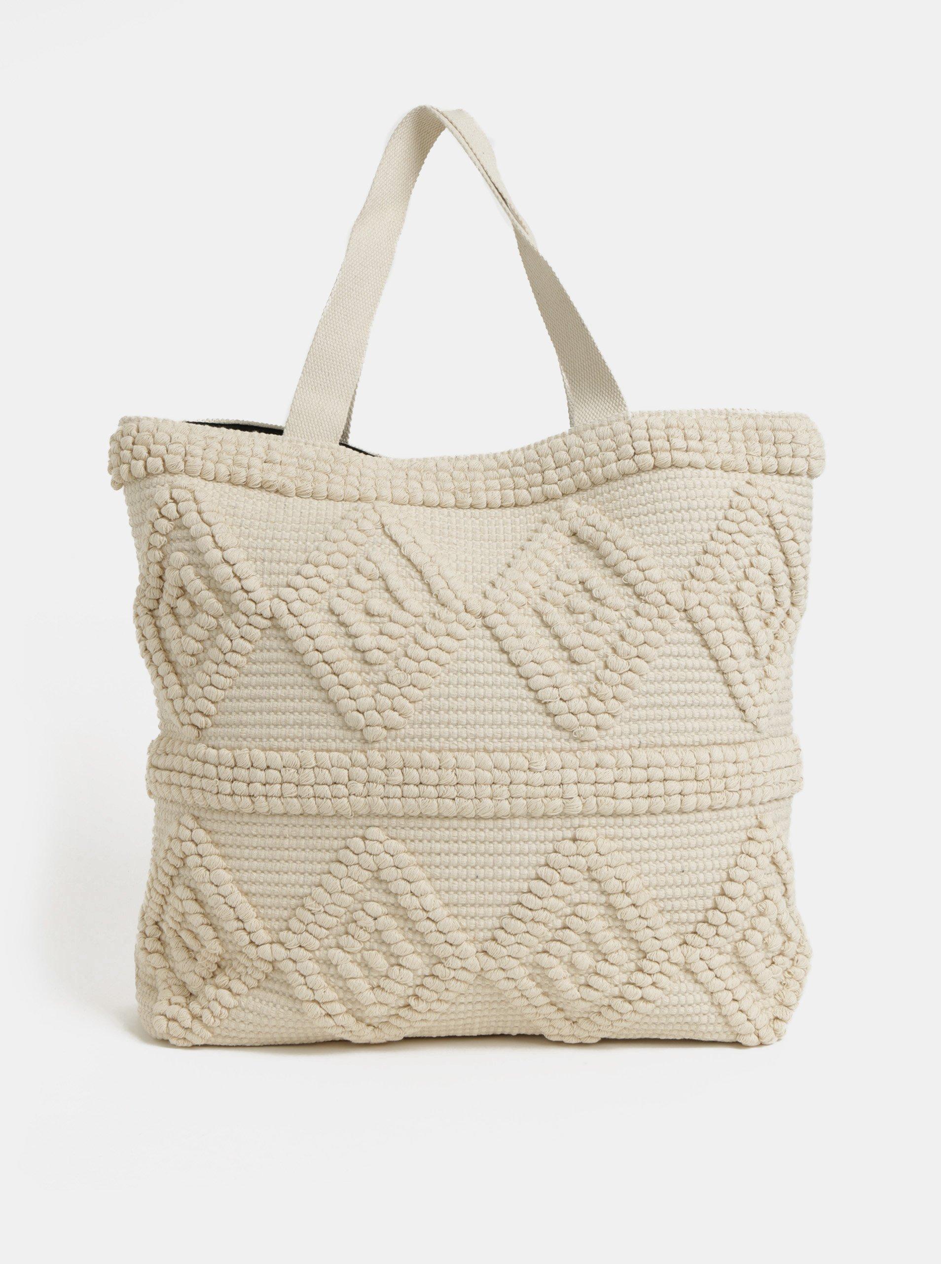 Béžová plážová taška Pieces Billen Pieces