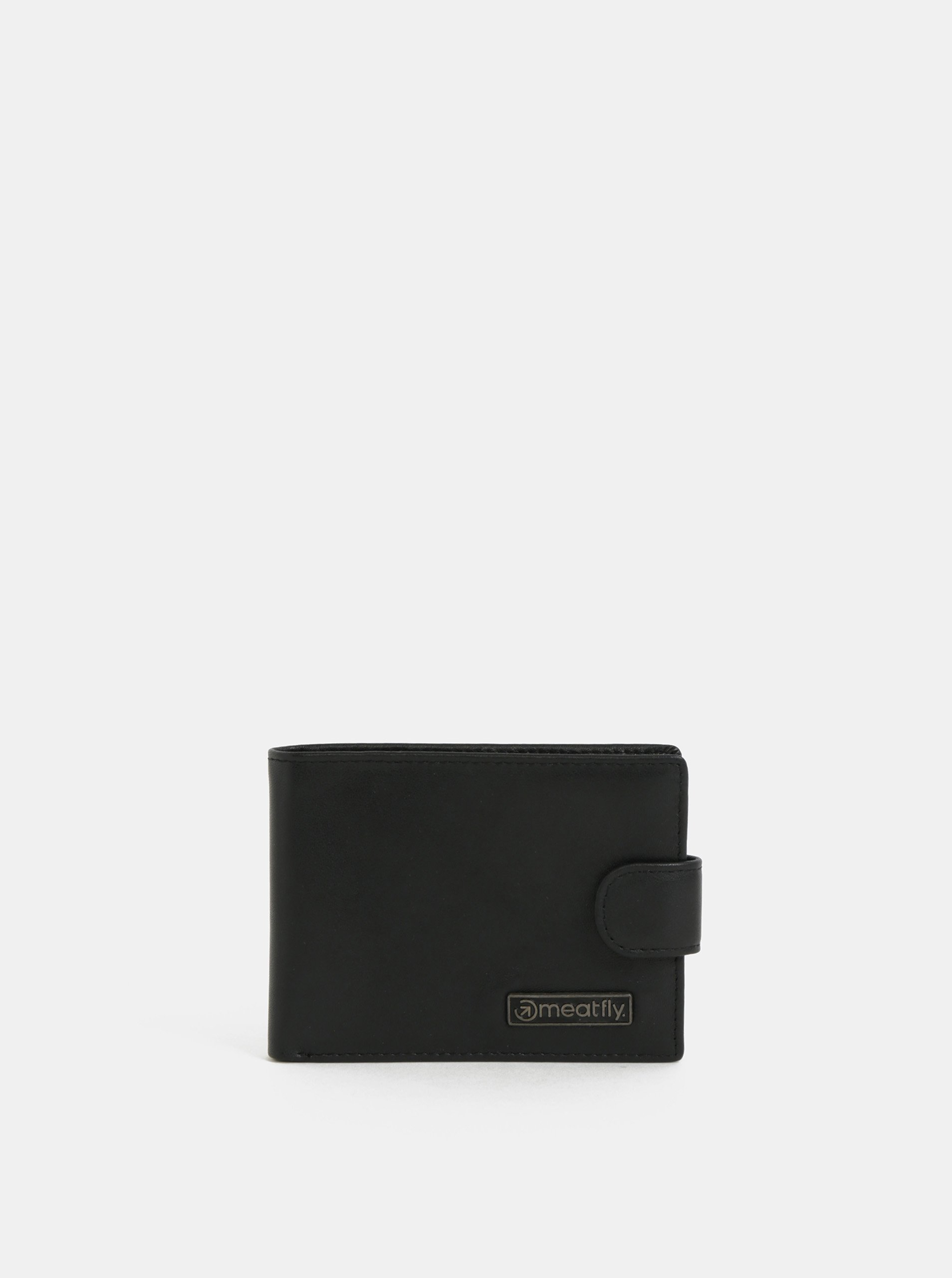 Čierna pánska kožená peňaženka Meatfly Riker