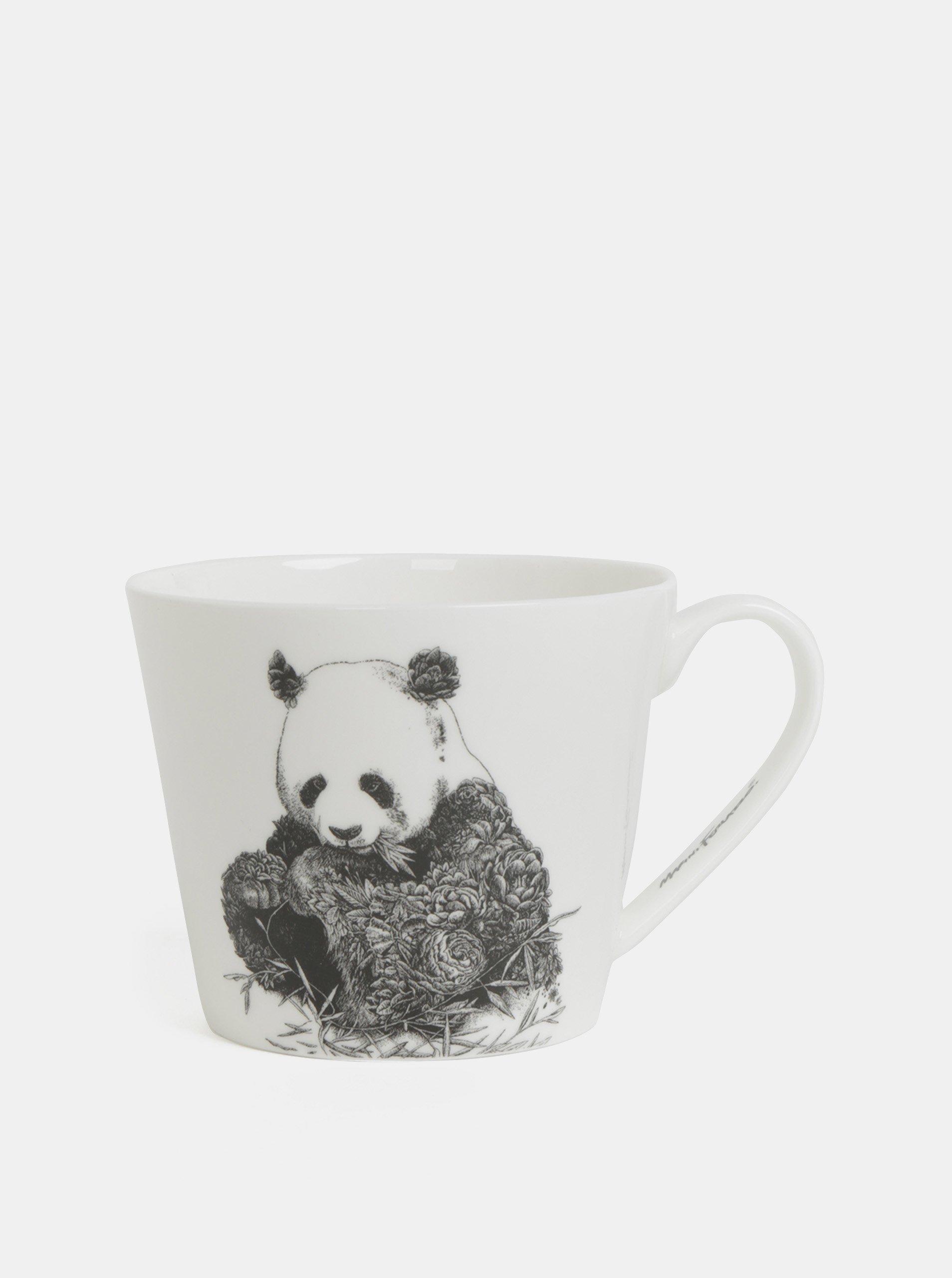Biely porcelánový hrnček s motívom pandy Maxwell & Williams