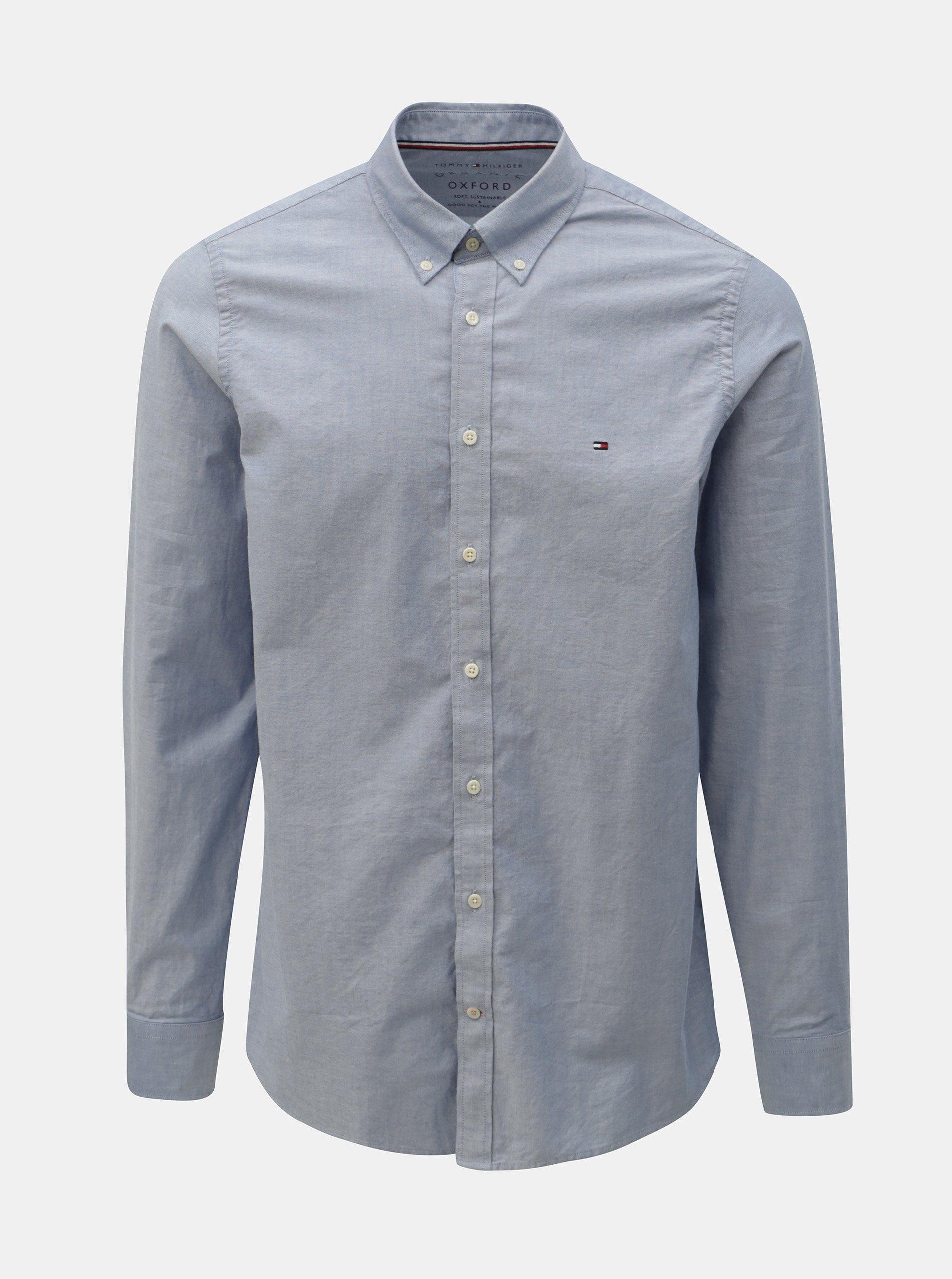 d9684f849c1a Modrá pánská slim fit košile Tommy Hilfiger