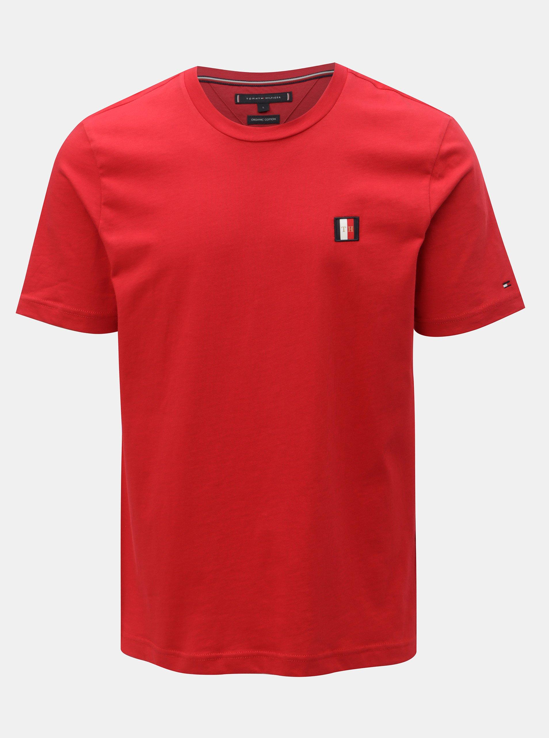 47608c04fd Cervene panske tenisky tommy hilfiger levně