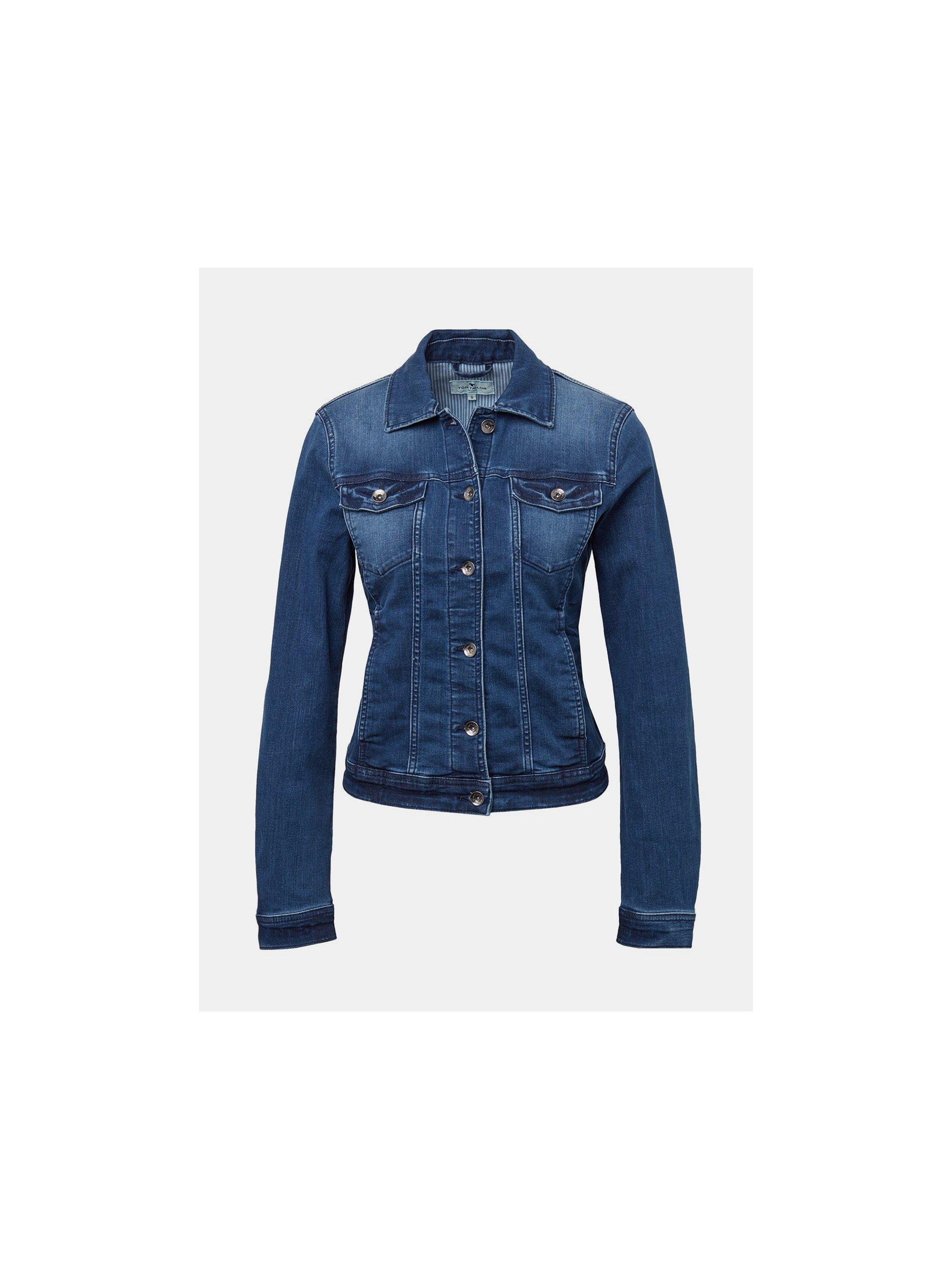 Modrá dámska rifľová bunda Tom Tailor