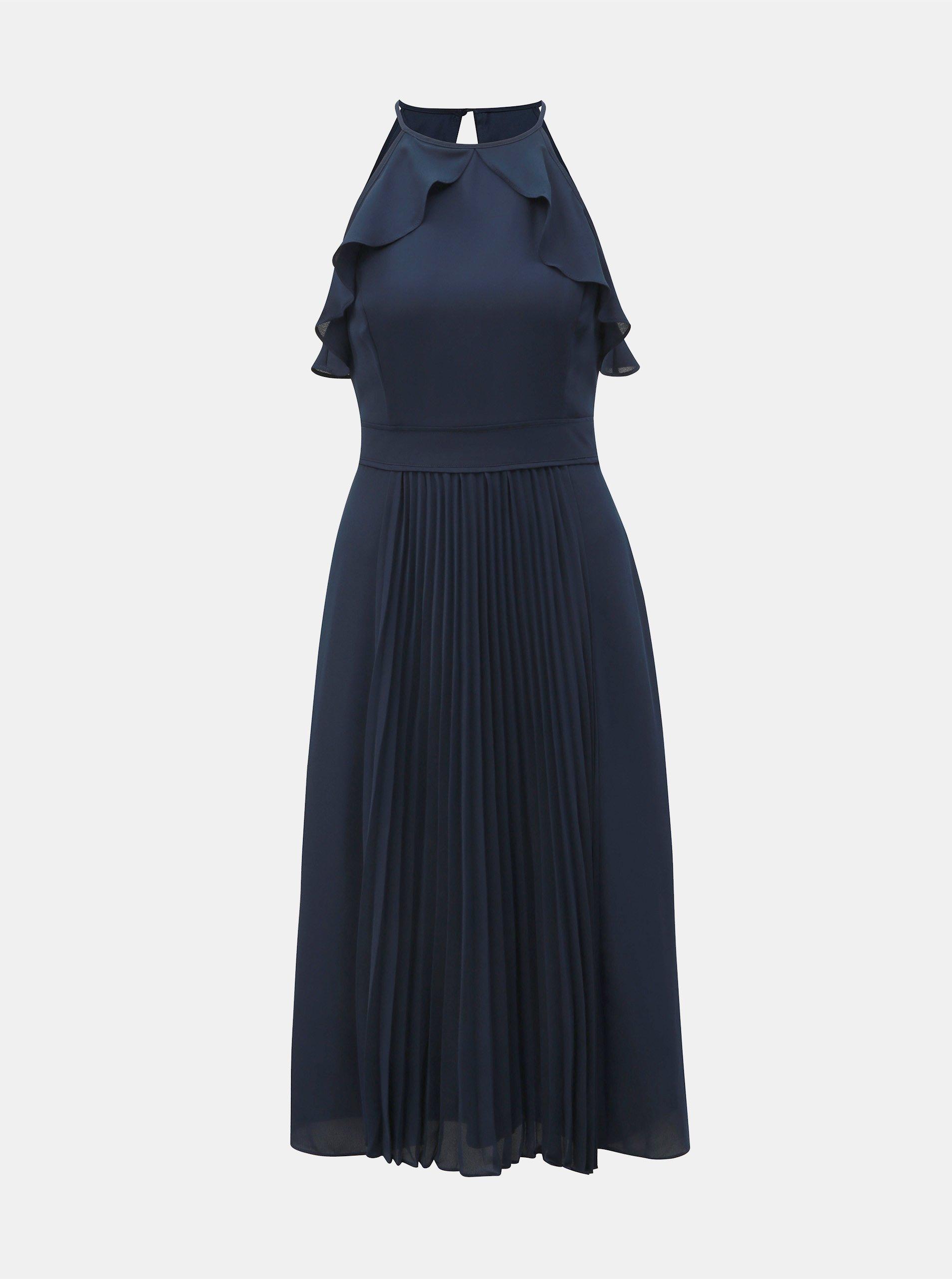 Tmavě modré plisované šaty Dorothy Perkins