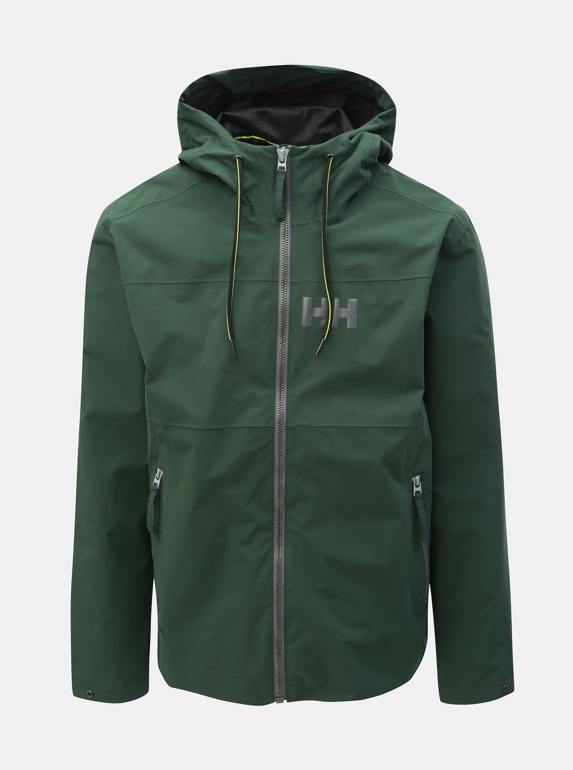 Tmavě zelená pánská nepromokavá lehká bunda HELLY HANSEN