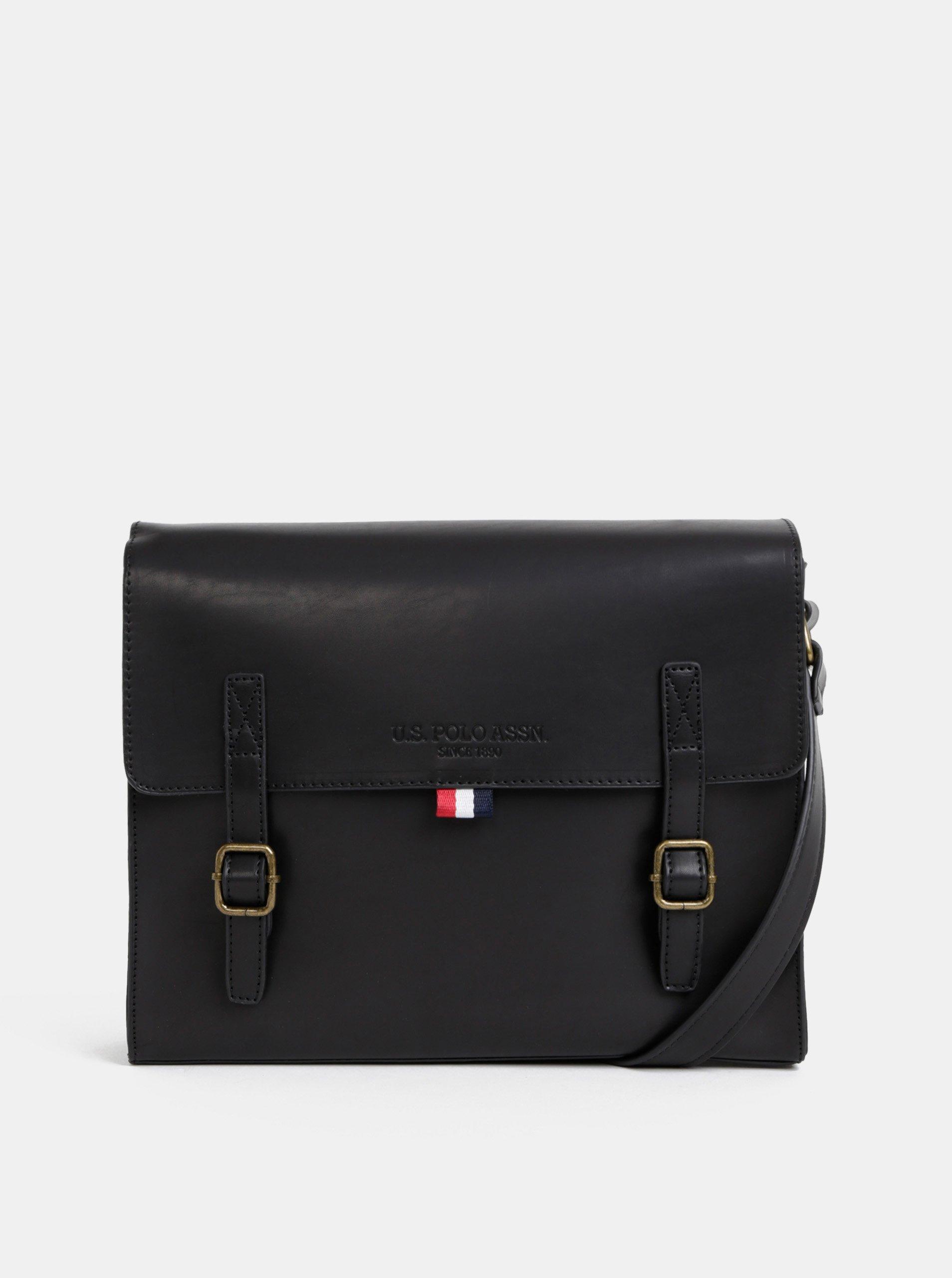 23da979340 Černá pánská taška U.S. Polo Assn.