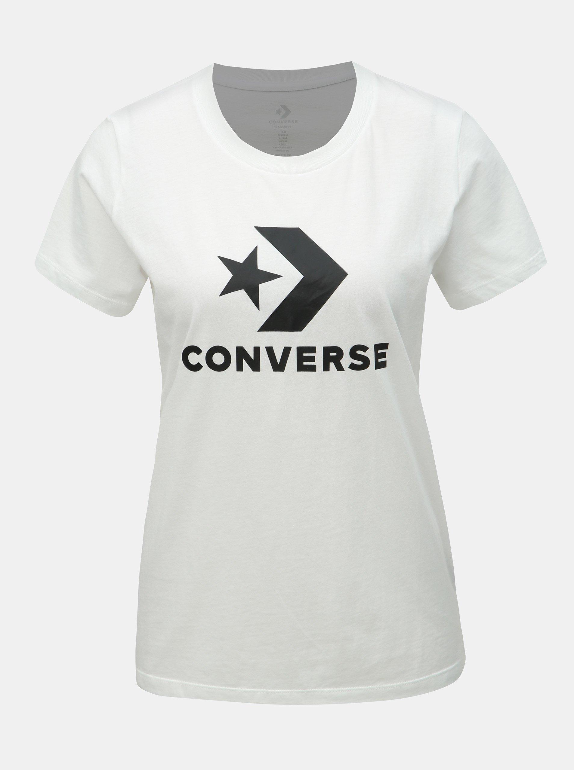 89dd69b2a396 Bílé dámské tričko s potiskem Converse