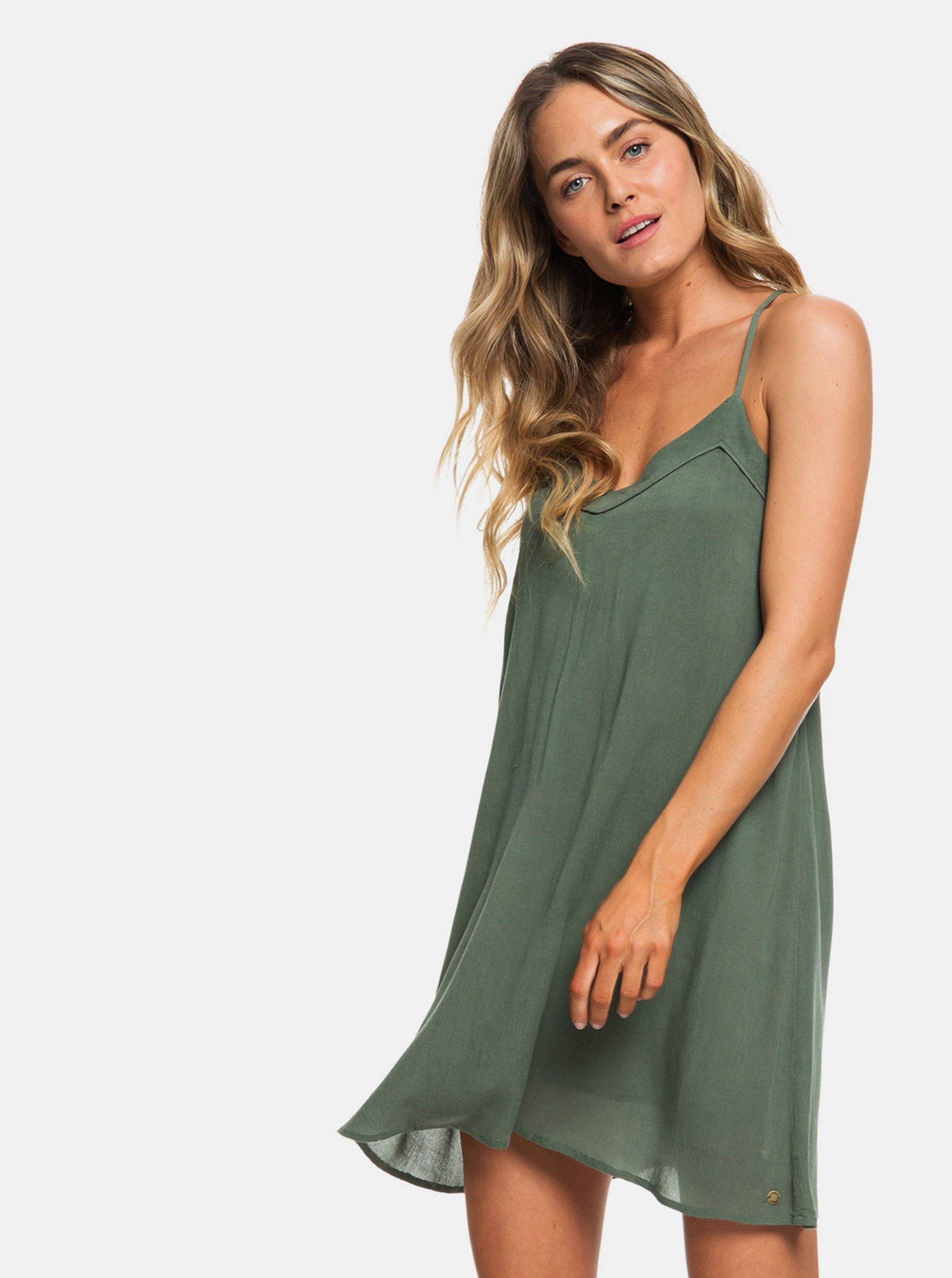 a53cc97ec620 Zelené šaty Roxy Off We Go