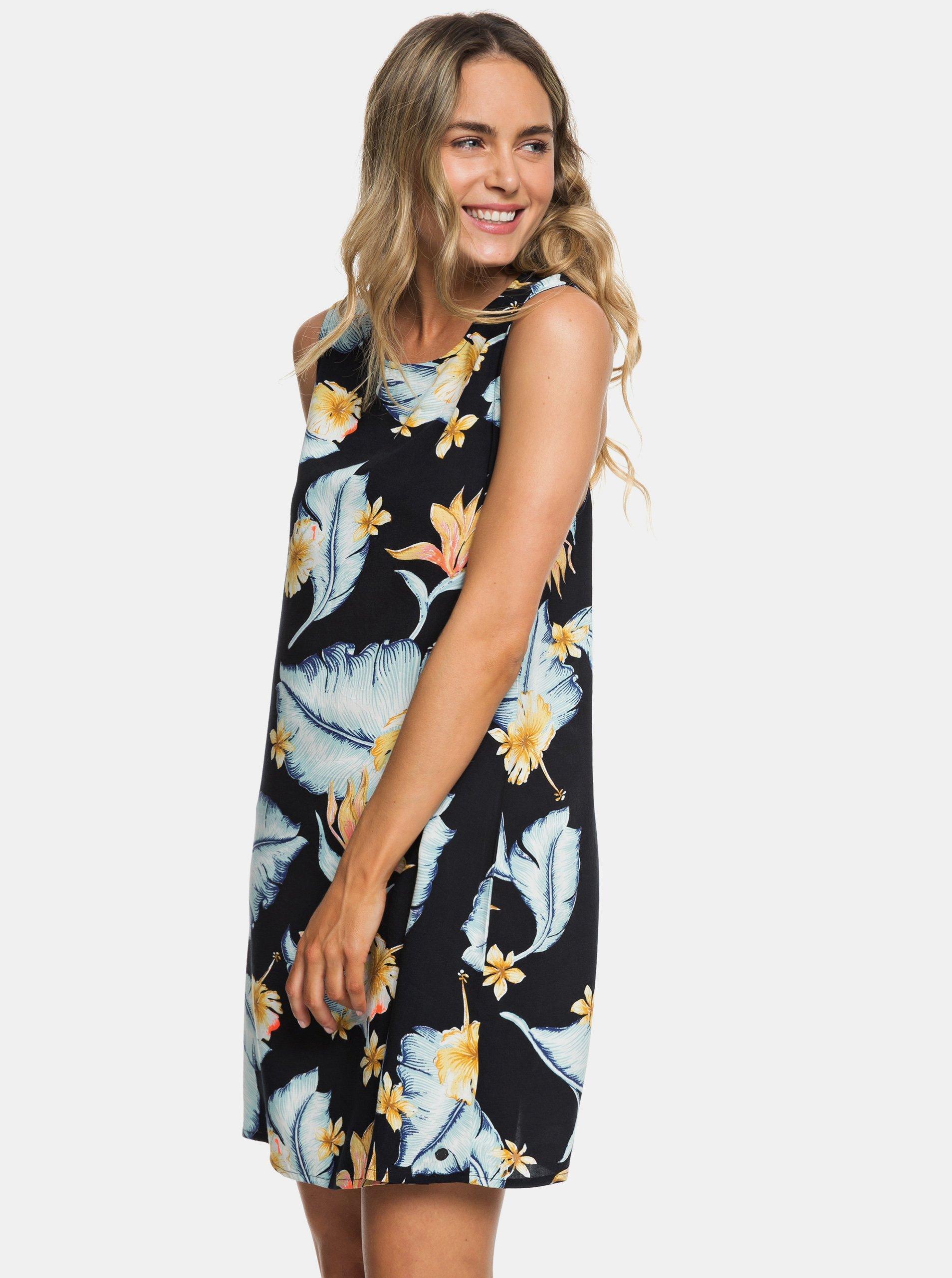8a6603570b90 Tmavě modré květované šaty Roxy Harlem Vibes