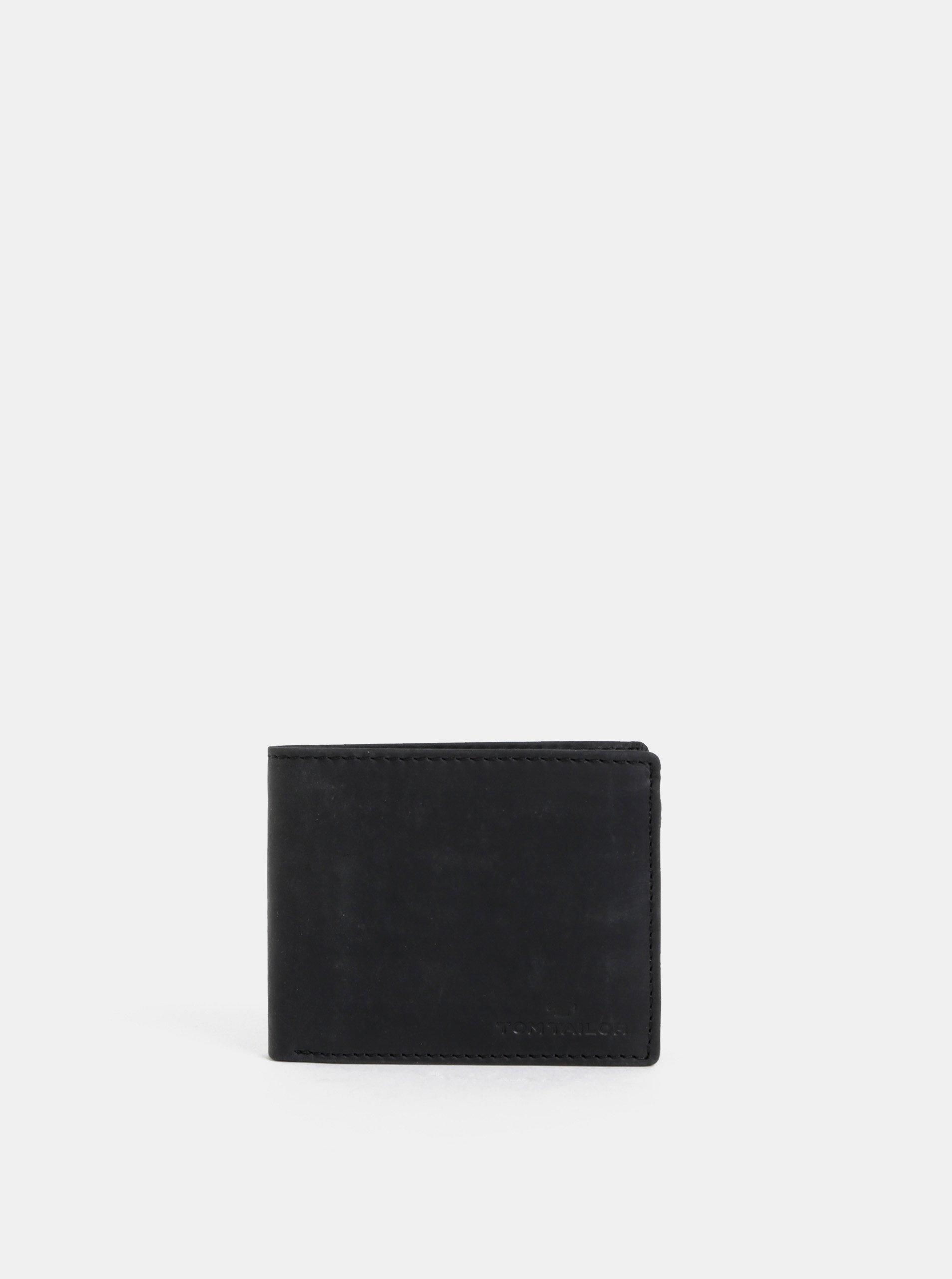 Čierna pánska kožená peňaženka Tom Tailor Ron