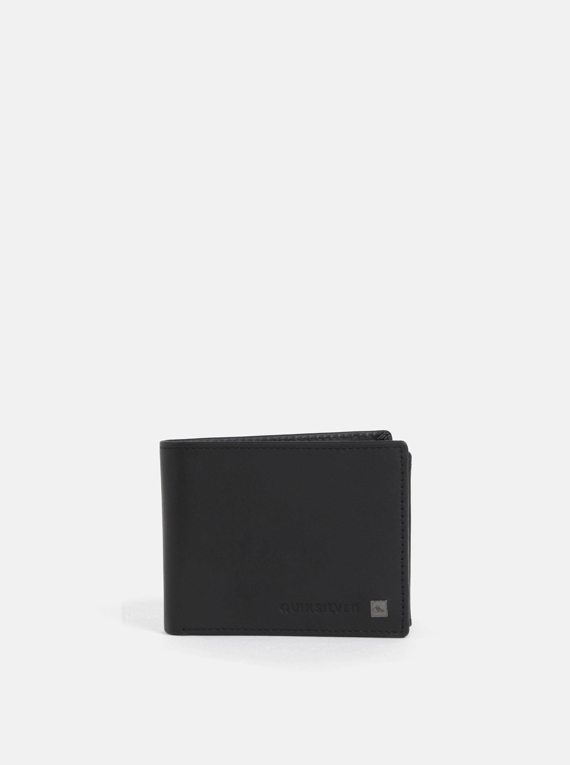 Čierna kožená peňaženka Quiksilver Curve Cutter