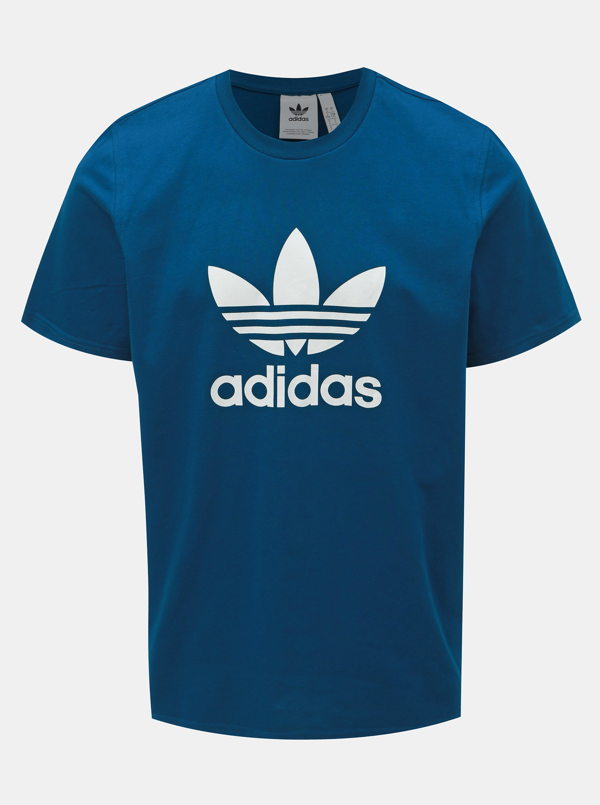 Petrolejové pánske tričko adidas Originals Trefoil