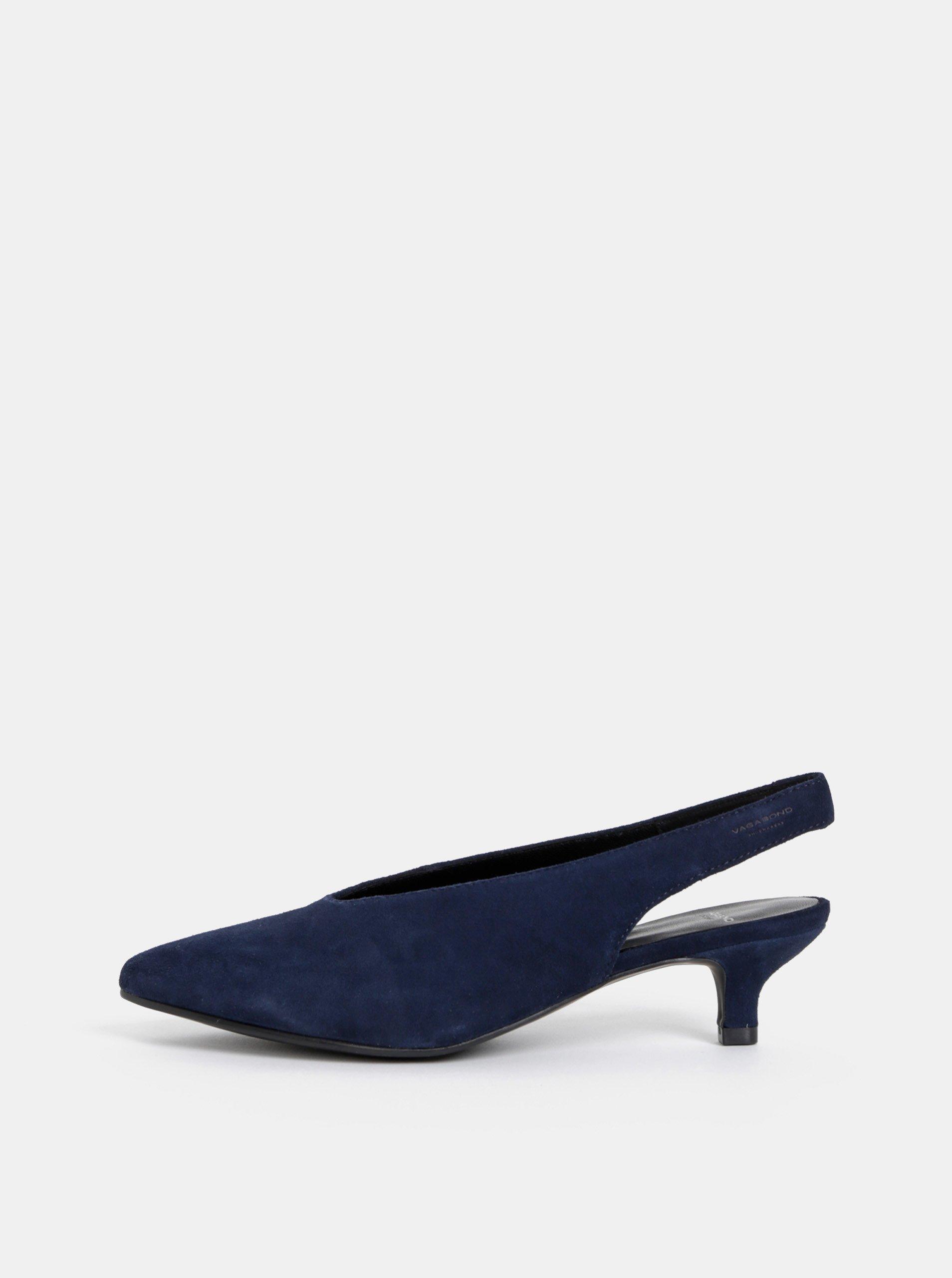 Tmavě modré semisové lodičky Vagabond Minna