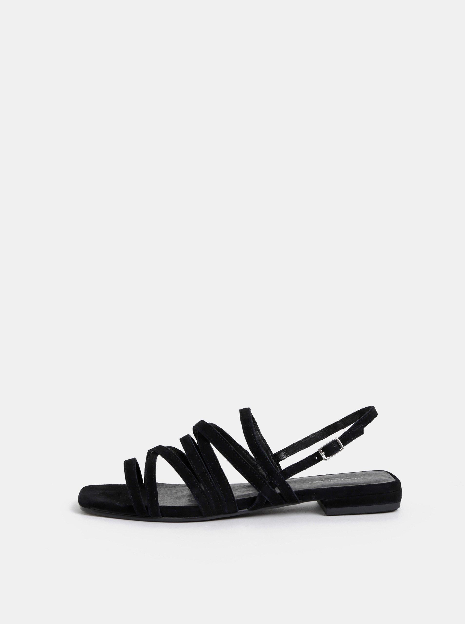 bbf73e536b40a Čierne dámske semišové sandále Vagabond Becky