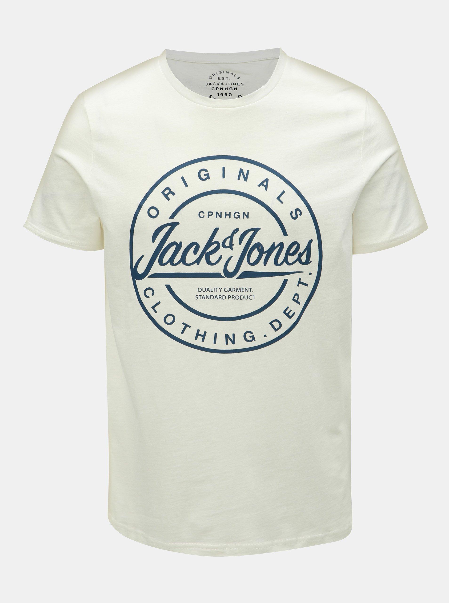 fce574daf04d Bílé slim fit tričko s potiskem Jack   Jones Rart Tender