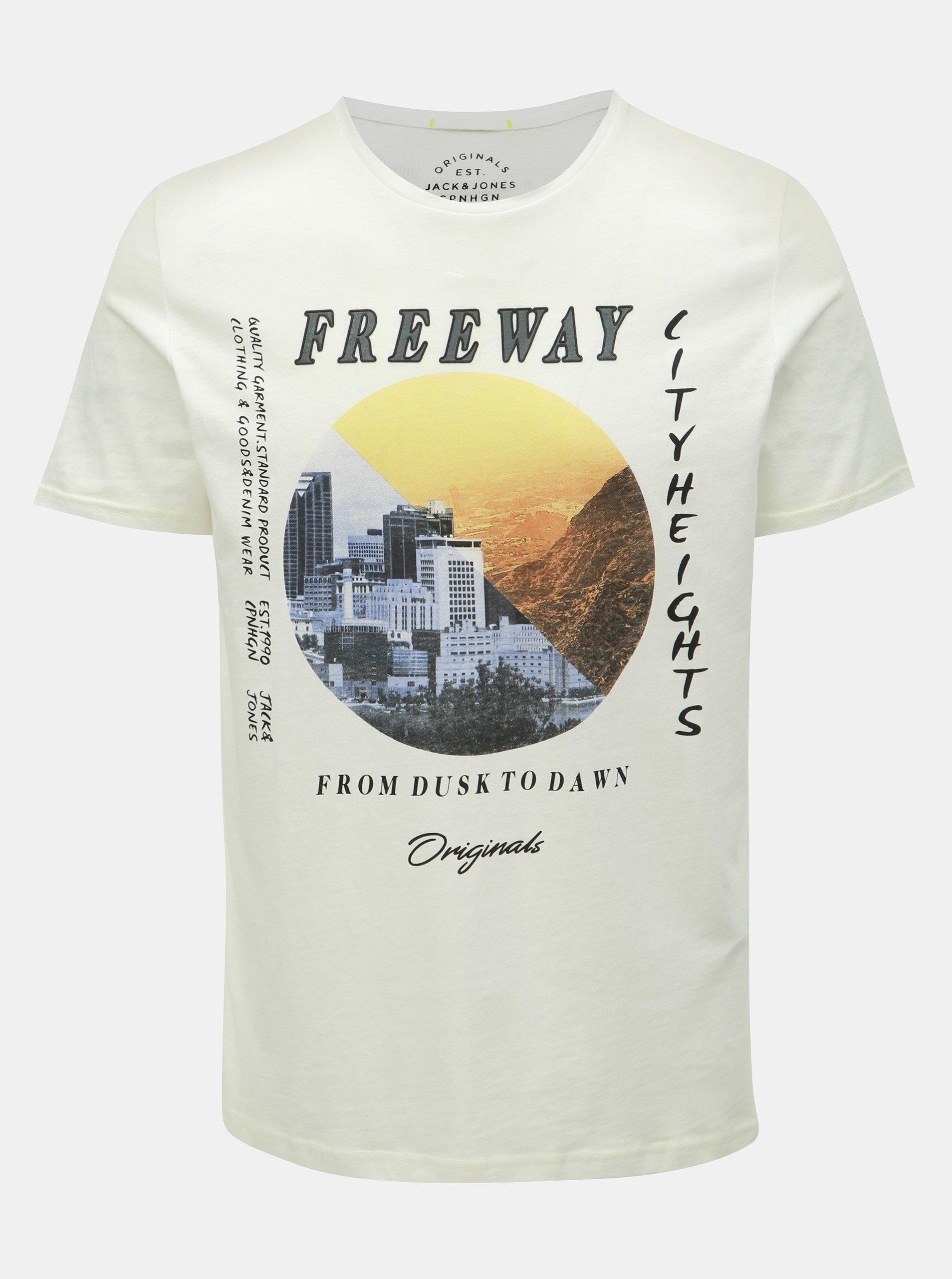 52043301d5aa Bílé slim fit tričko s potiskem Jack   Jones Suburban