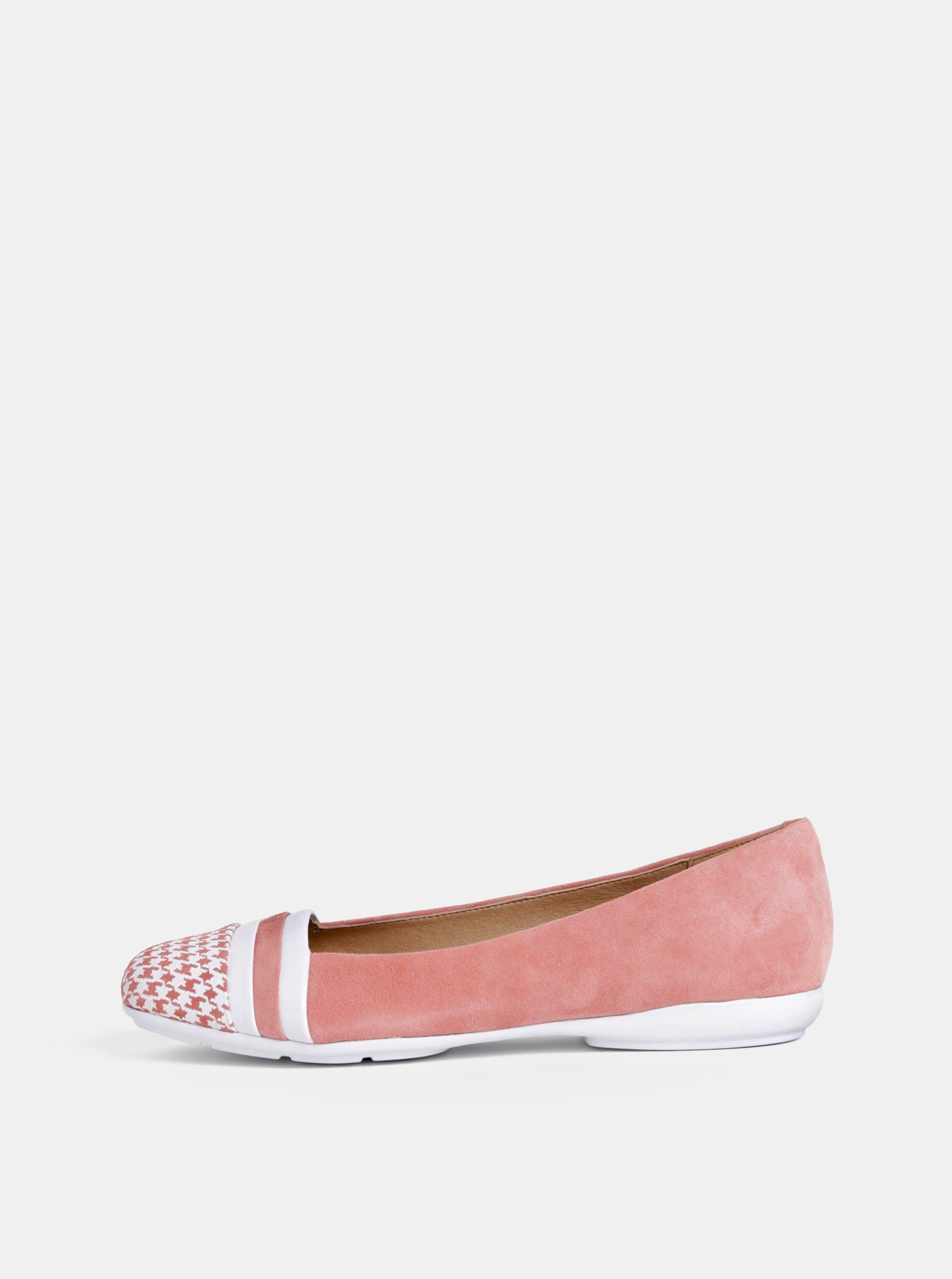 72f60528912c0 Růžové semišové baleríny Geox Annytah