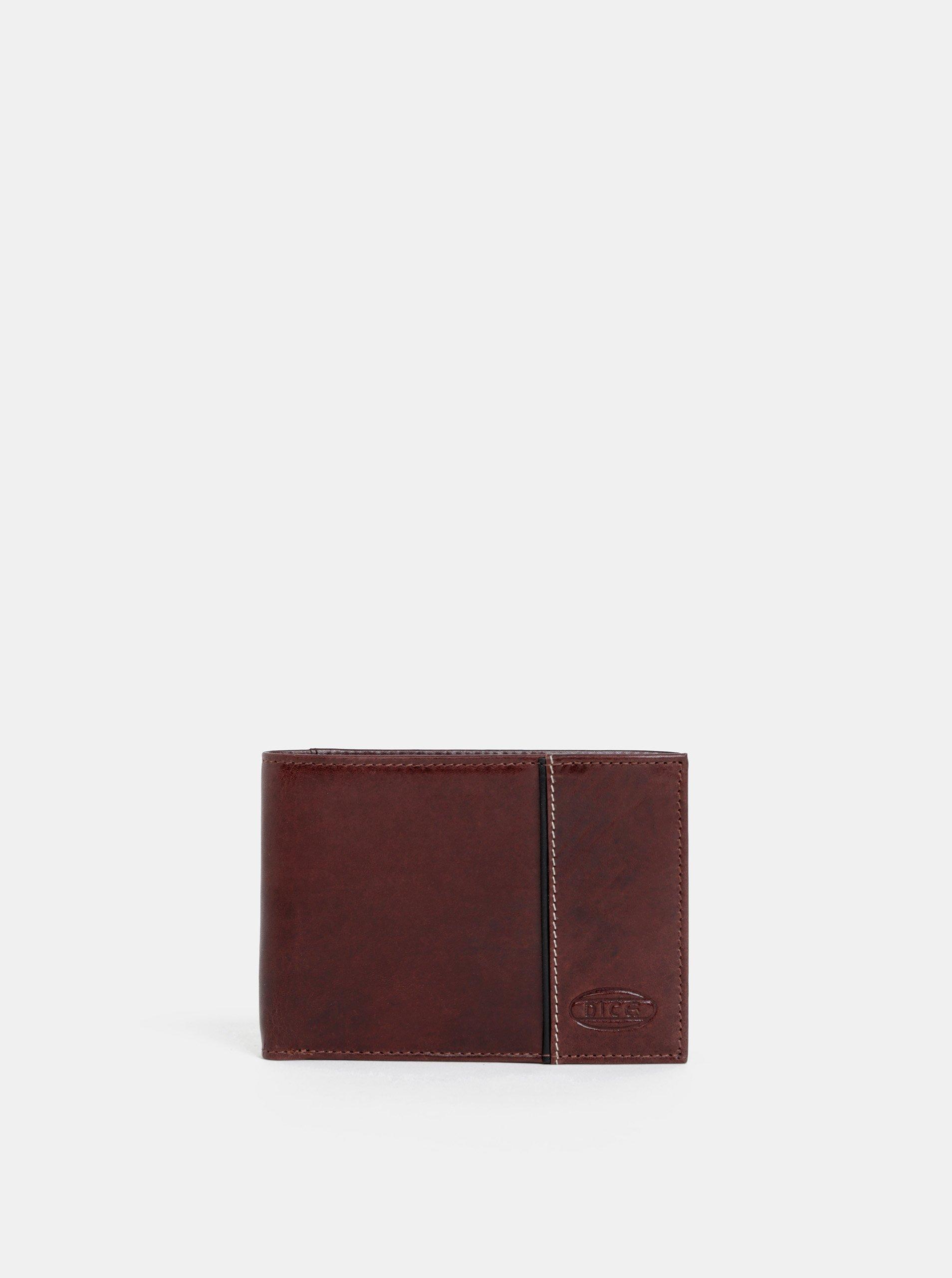 Tmavohnedá pánska kožená peňaženka Dice Vance