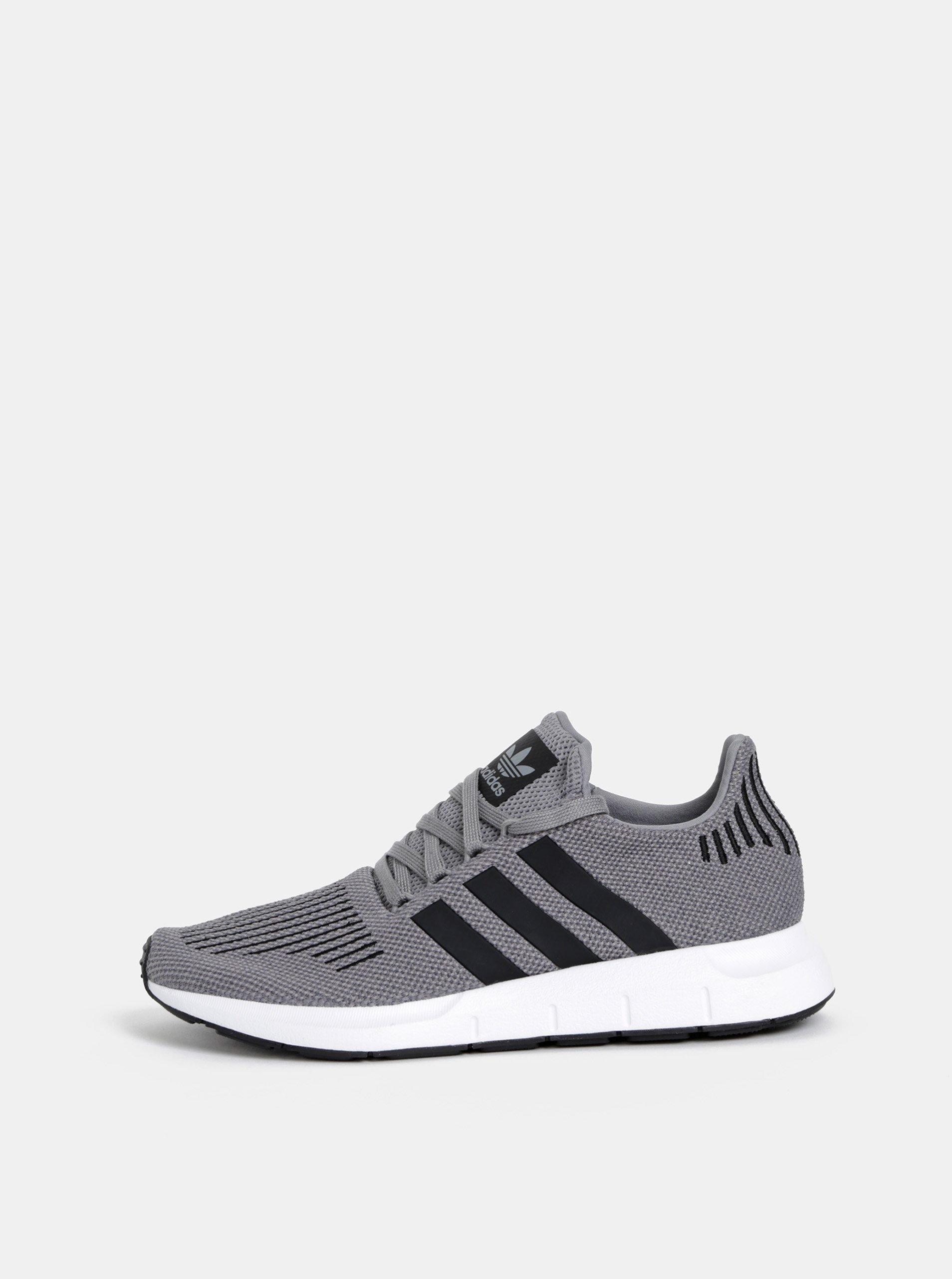 Sivé pánske tenisky adidas Originals Swift Run