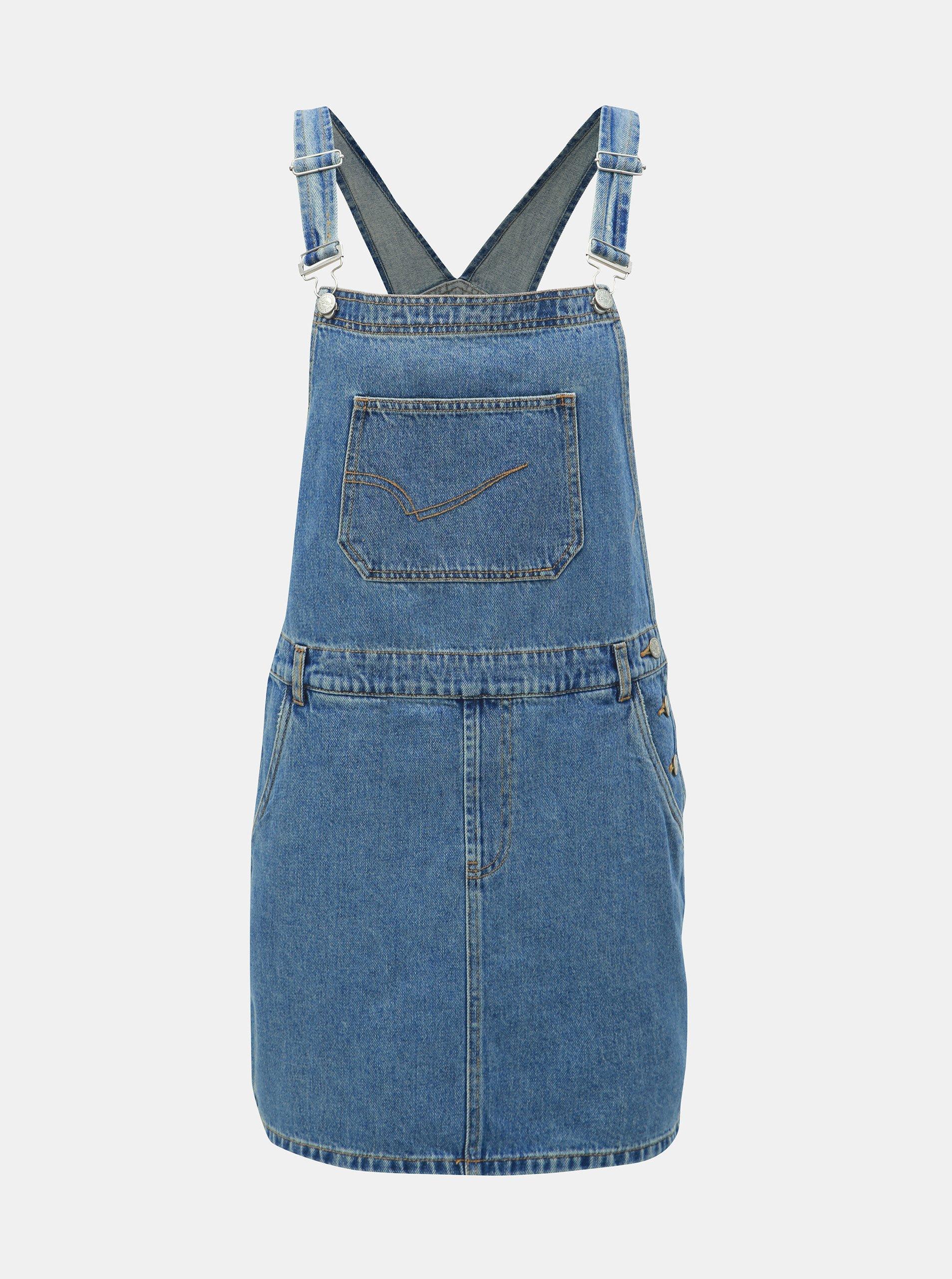 f7dd5bf1ca06 Modré džínové šaty s laclem ONLY Karlie
