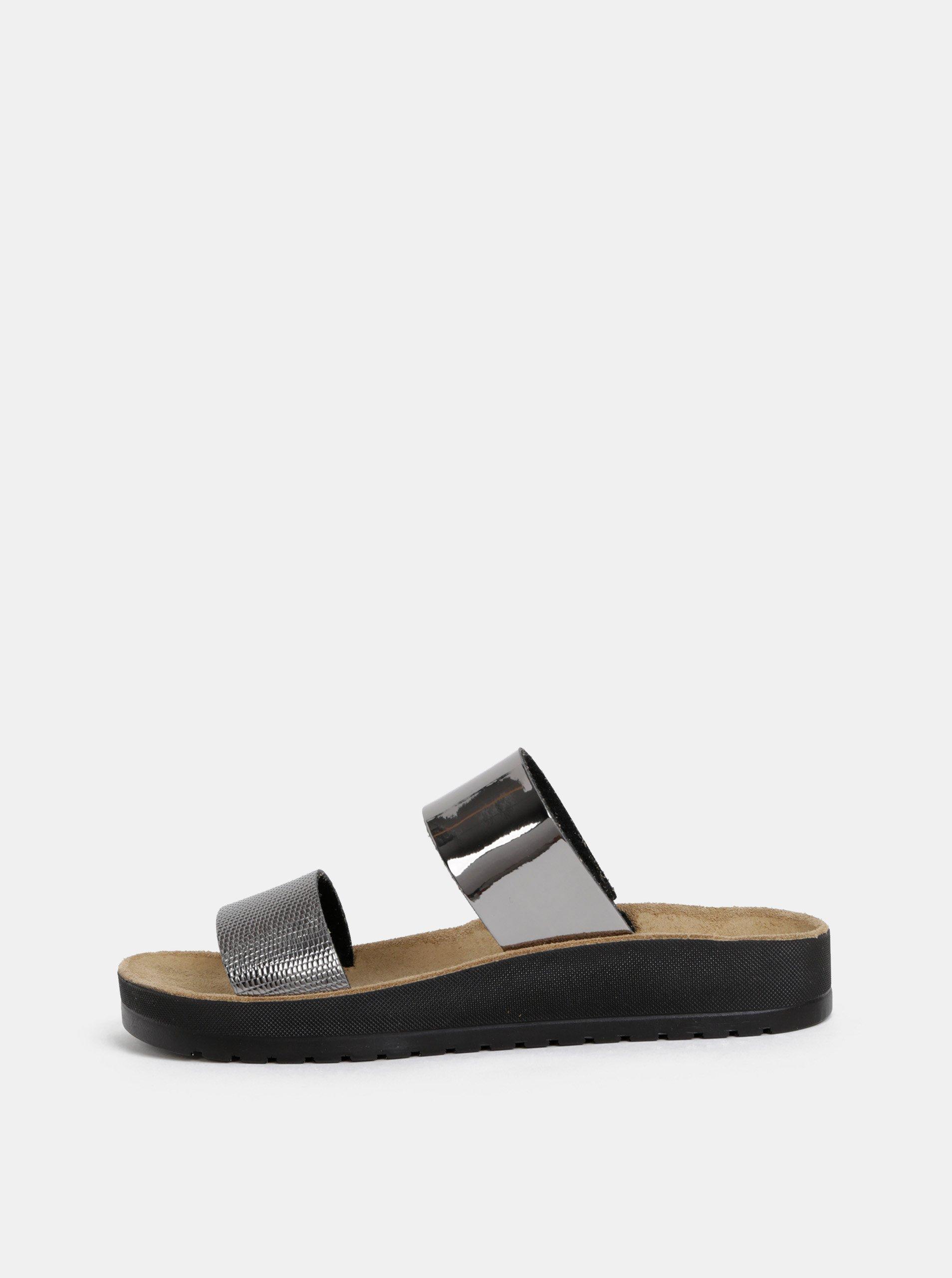 Dámské pantofle ve stříbrné barvě Scholl Cynthia Scholl