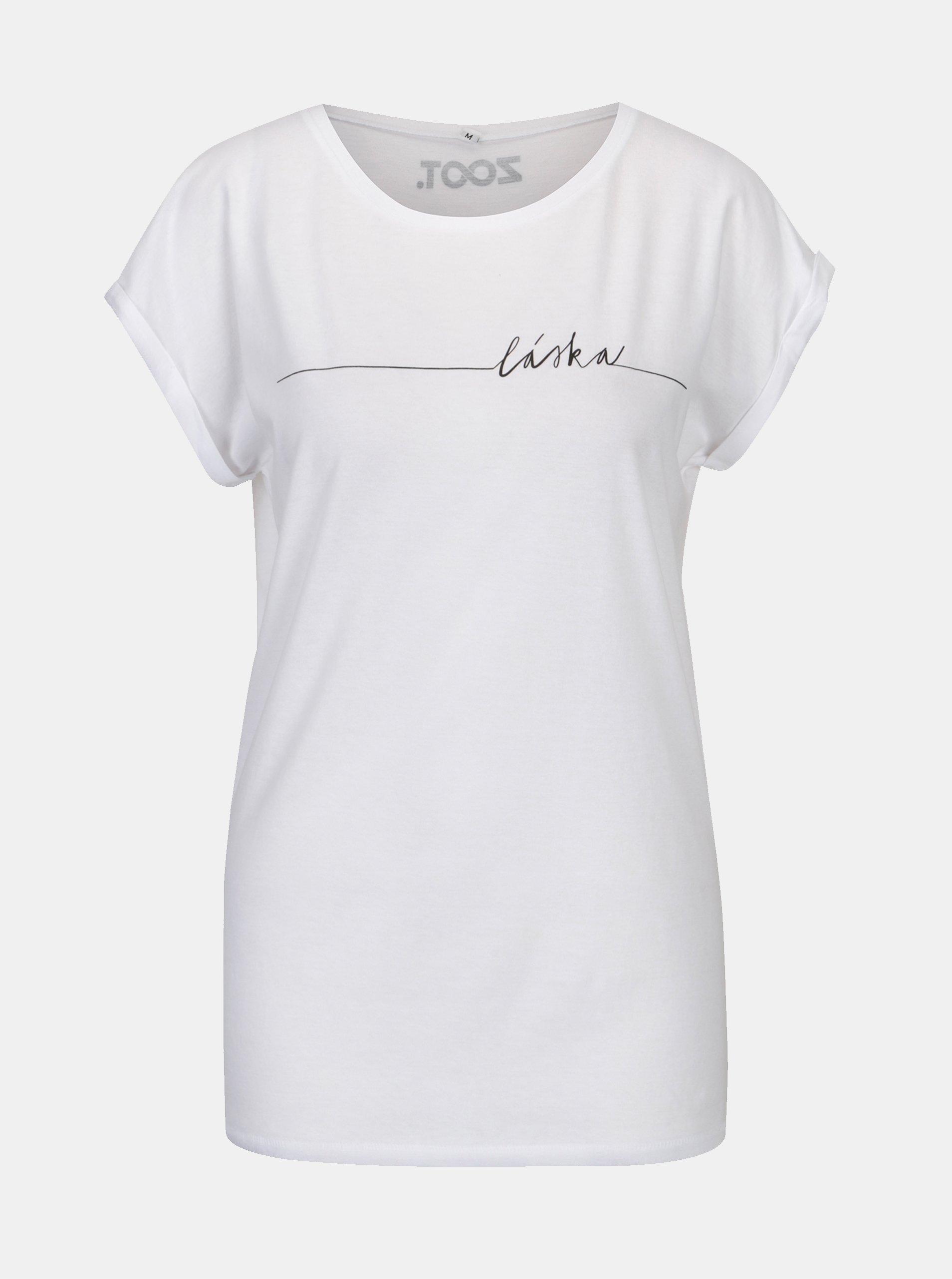 511813254a1a Bílé dámské tričko s potiskem ZOOT Original Láska