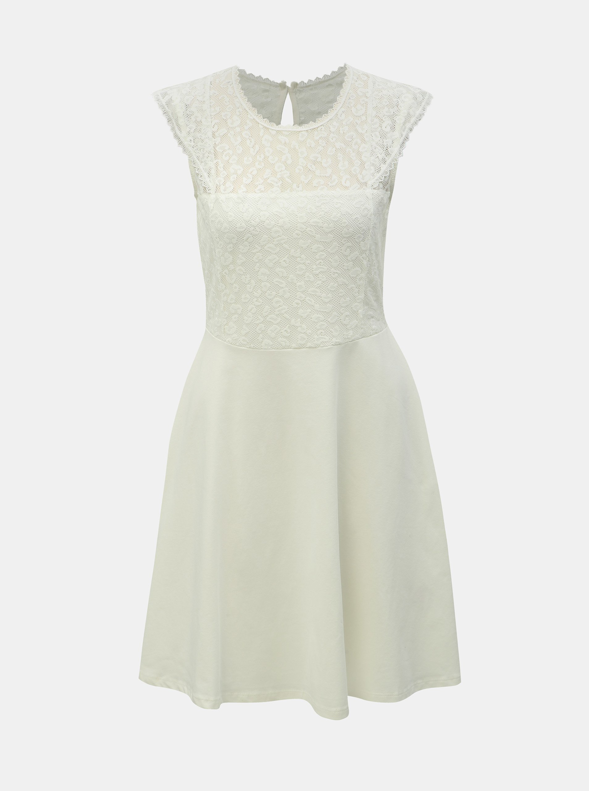 3702fef9043f Bílé šaty s krajkou a leopardím vzorem Dorothy Perkins