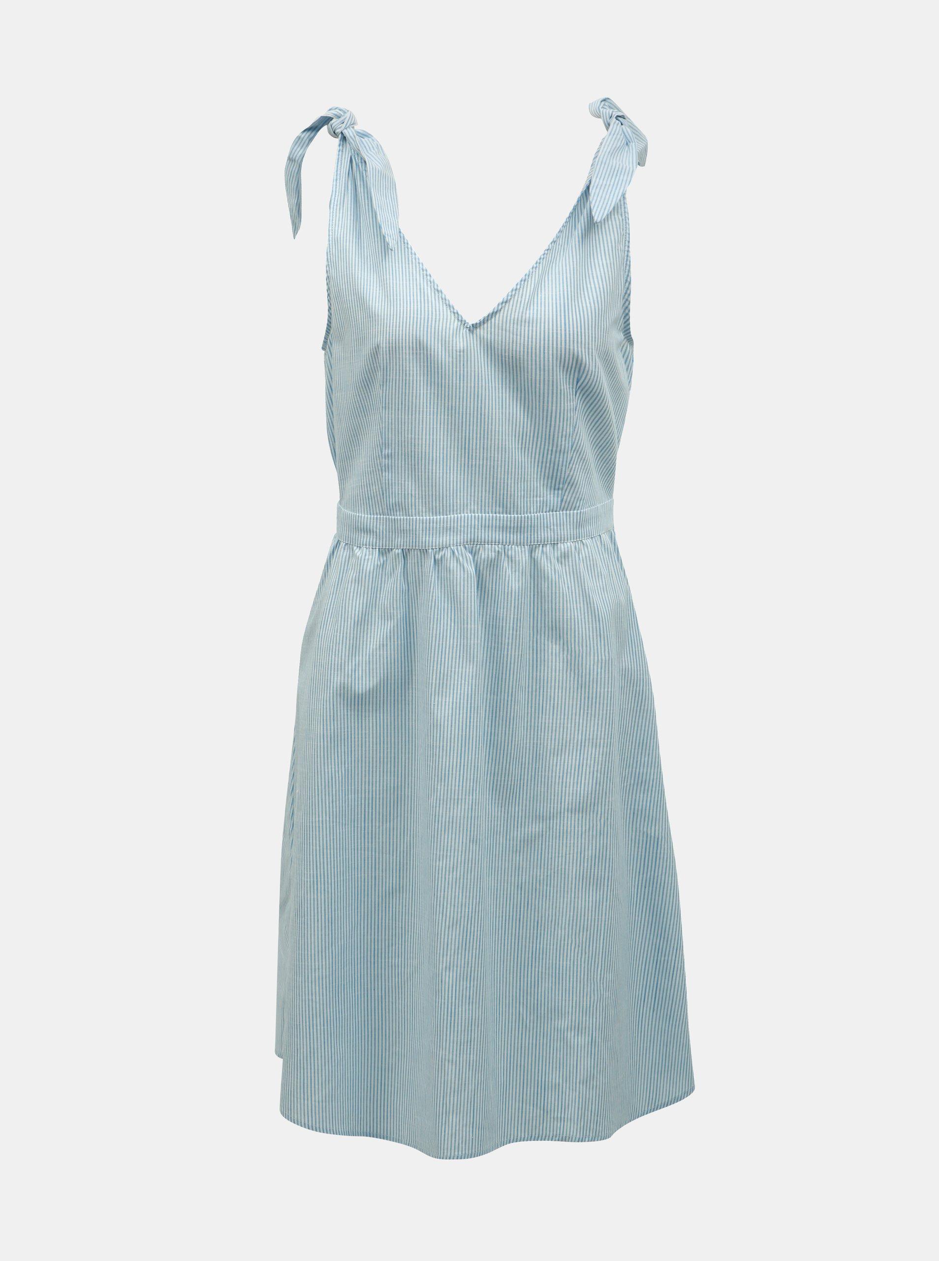 509e83cd1a42 Světle modré pruhované šaty VILA Gladys