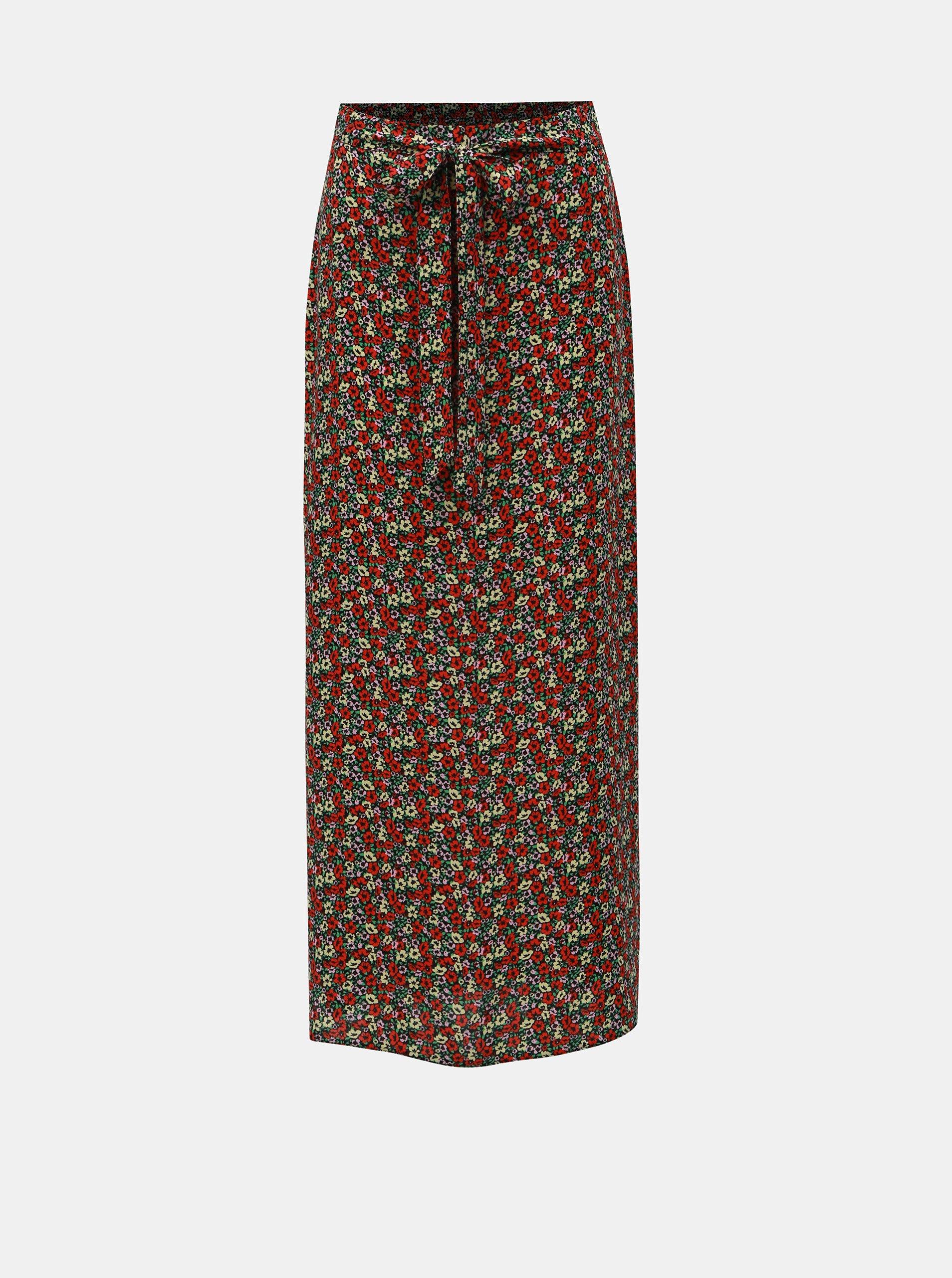 80452855c27c Červená květovaná maxi sukně Dorothy Perkins