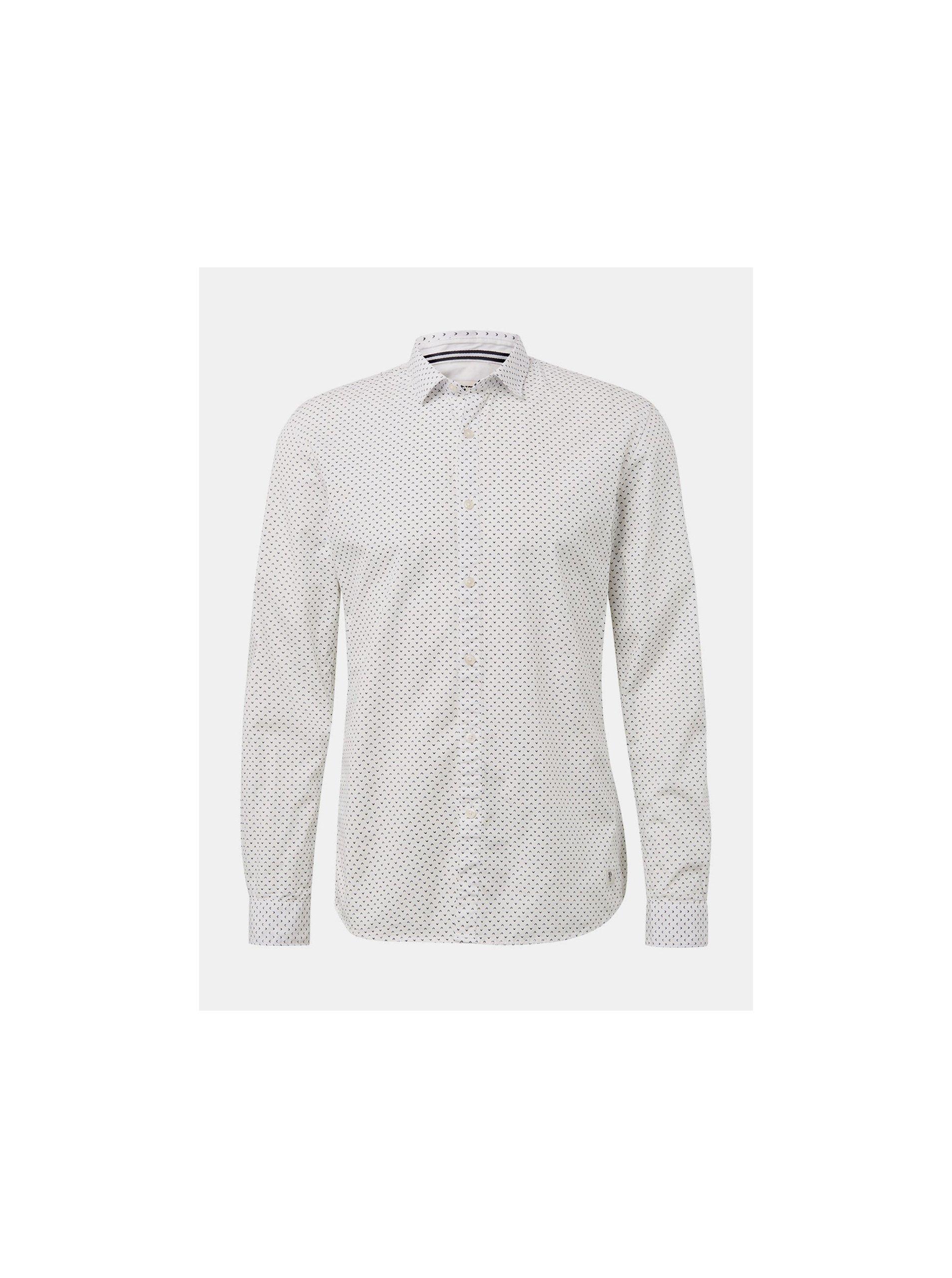 720167865227 Bílá pánská vzorovaná košile Tom Tailor Denim