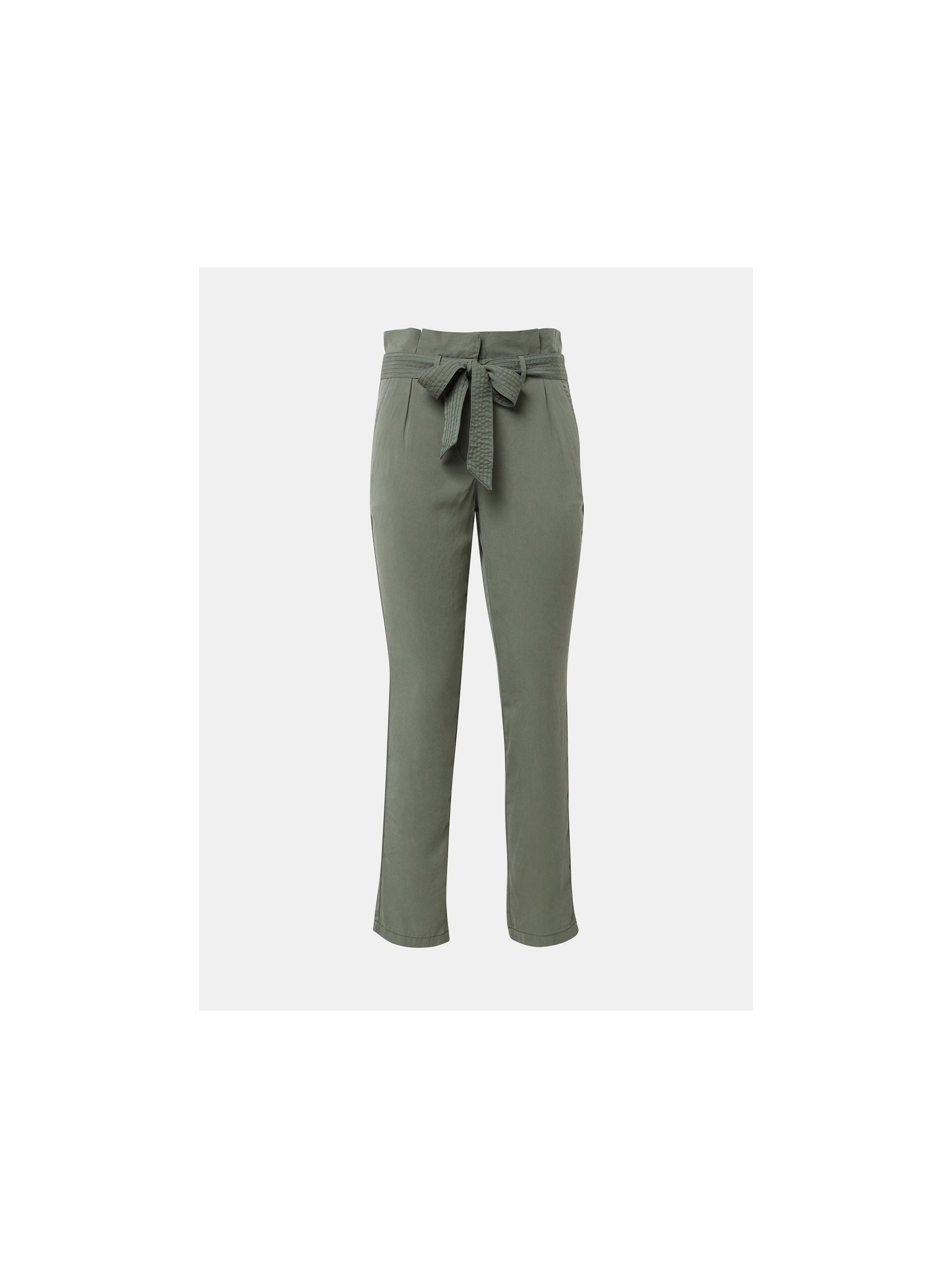 58568436d Zelené dámske skrátené nohavice Tom Tailor