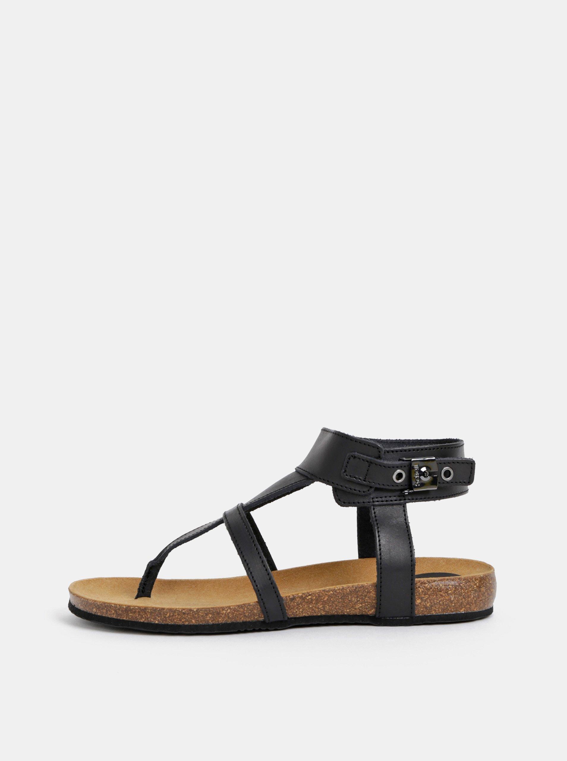 dc065025143f96 Černé kožené sandály Scholl Berry