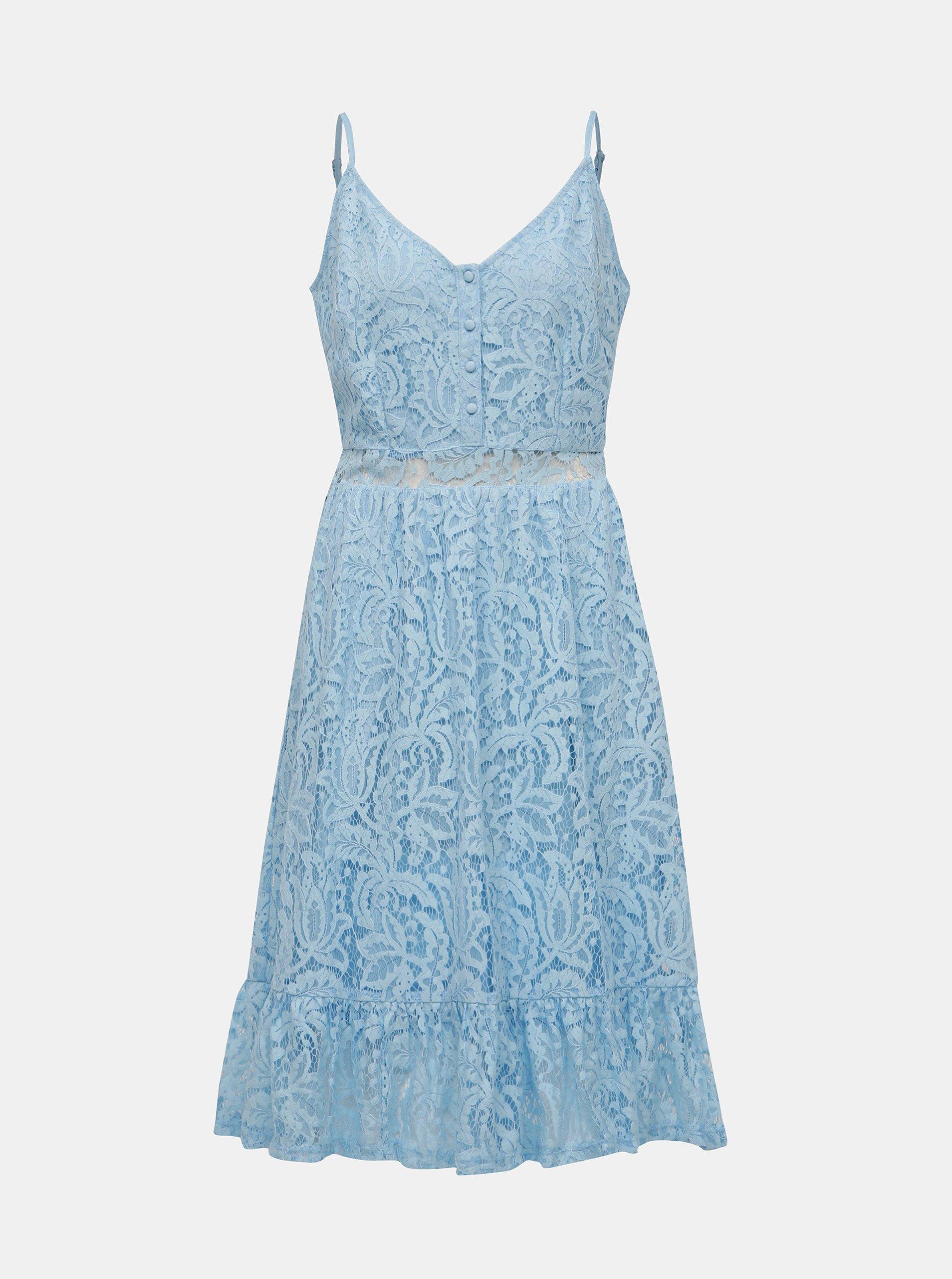 Modré čipkované šaty VILA Lummie