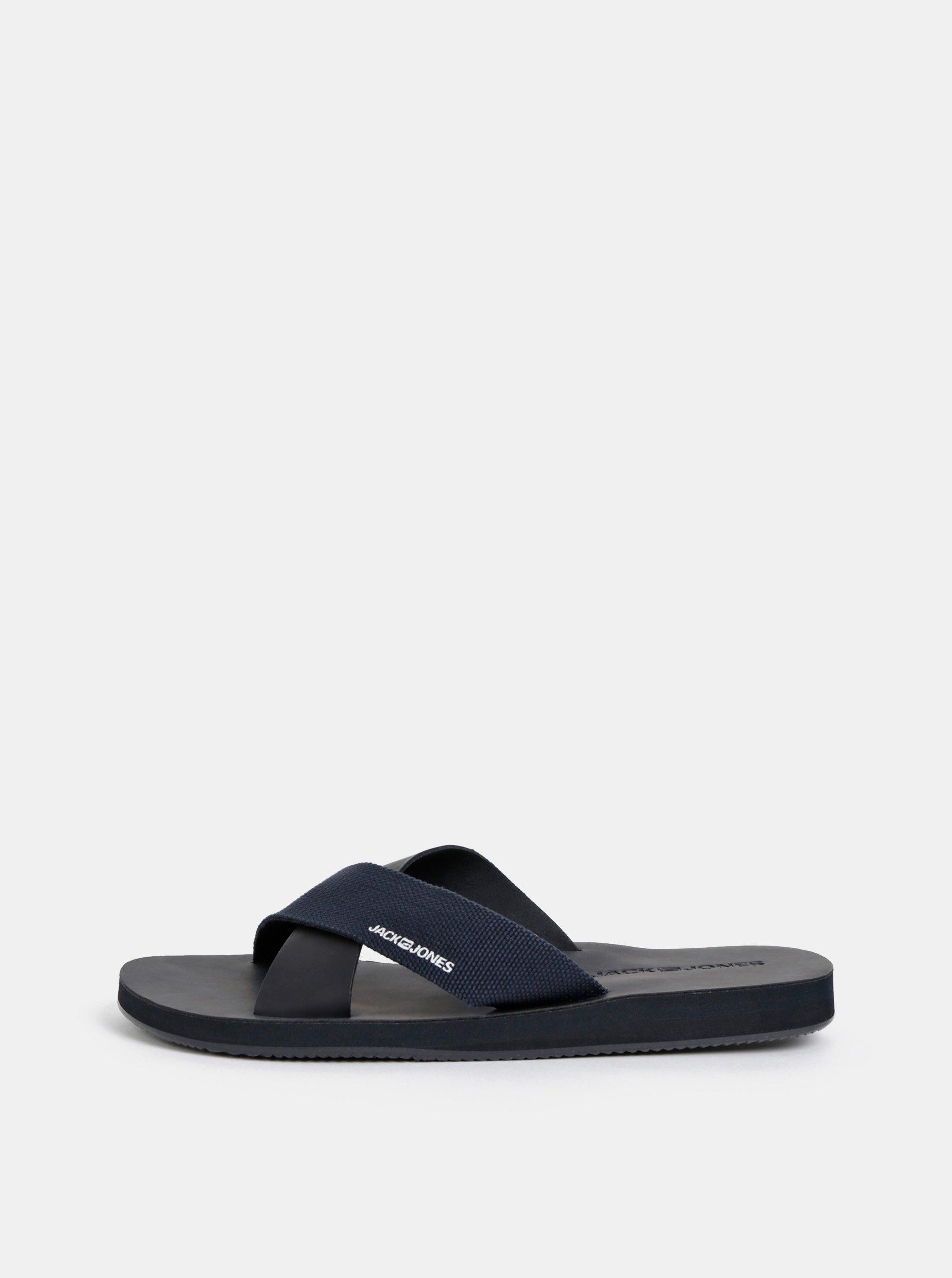 Černé pánské pantofle Jack & Jones Nova
