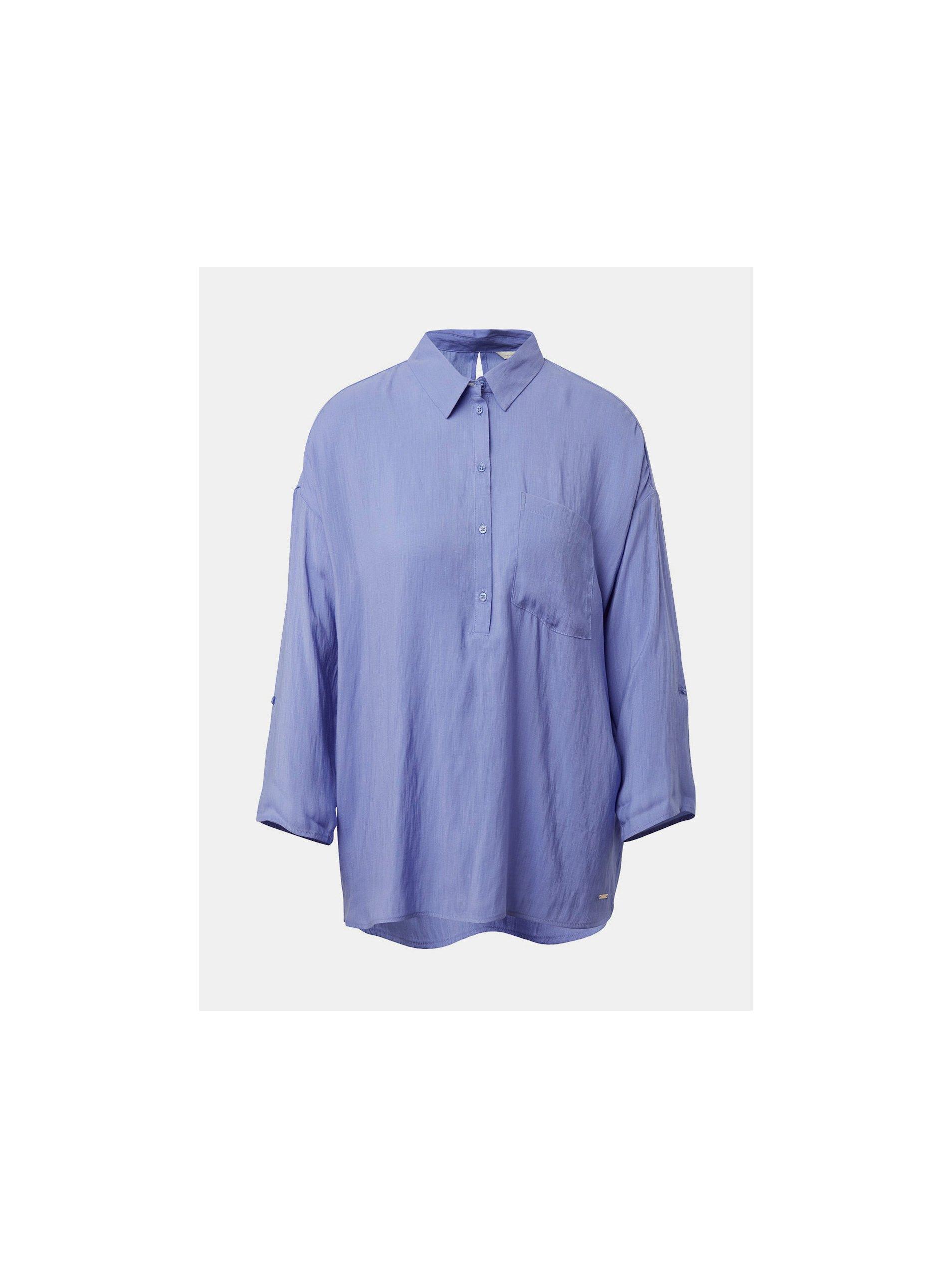 Světle fialová halenka s kapsou Tom Tailor Denim