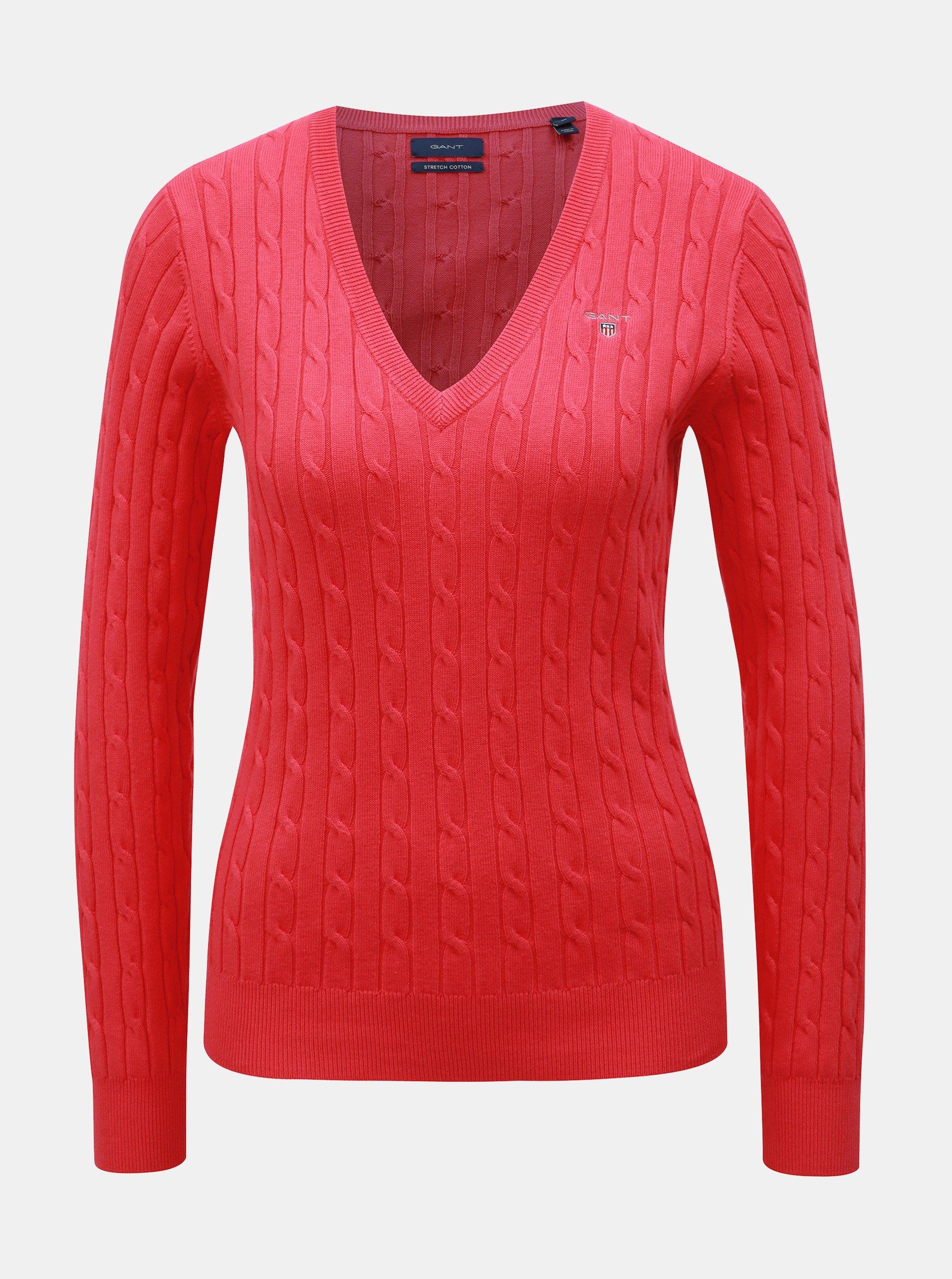Ružový dámsky sveter GANT