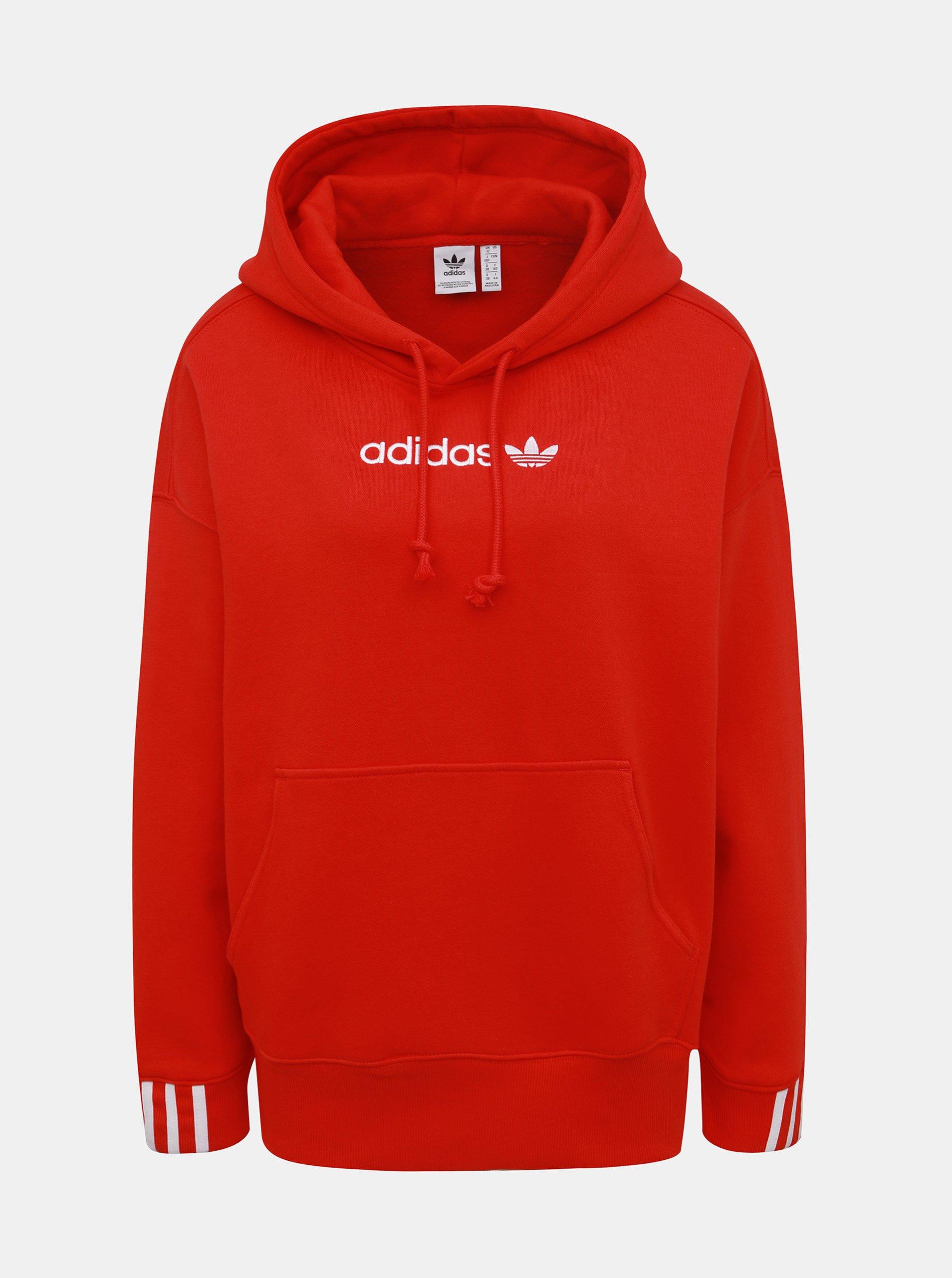 Červená dámska mikina adidas Originals