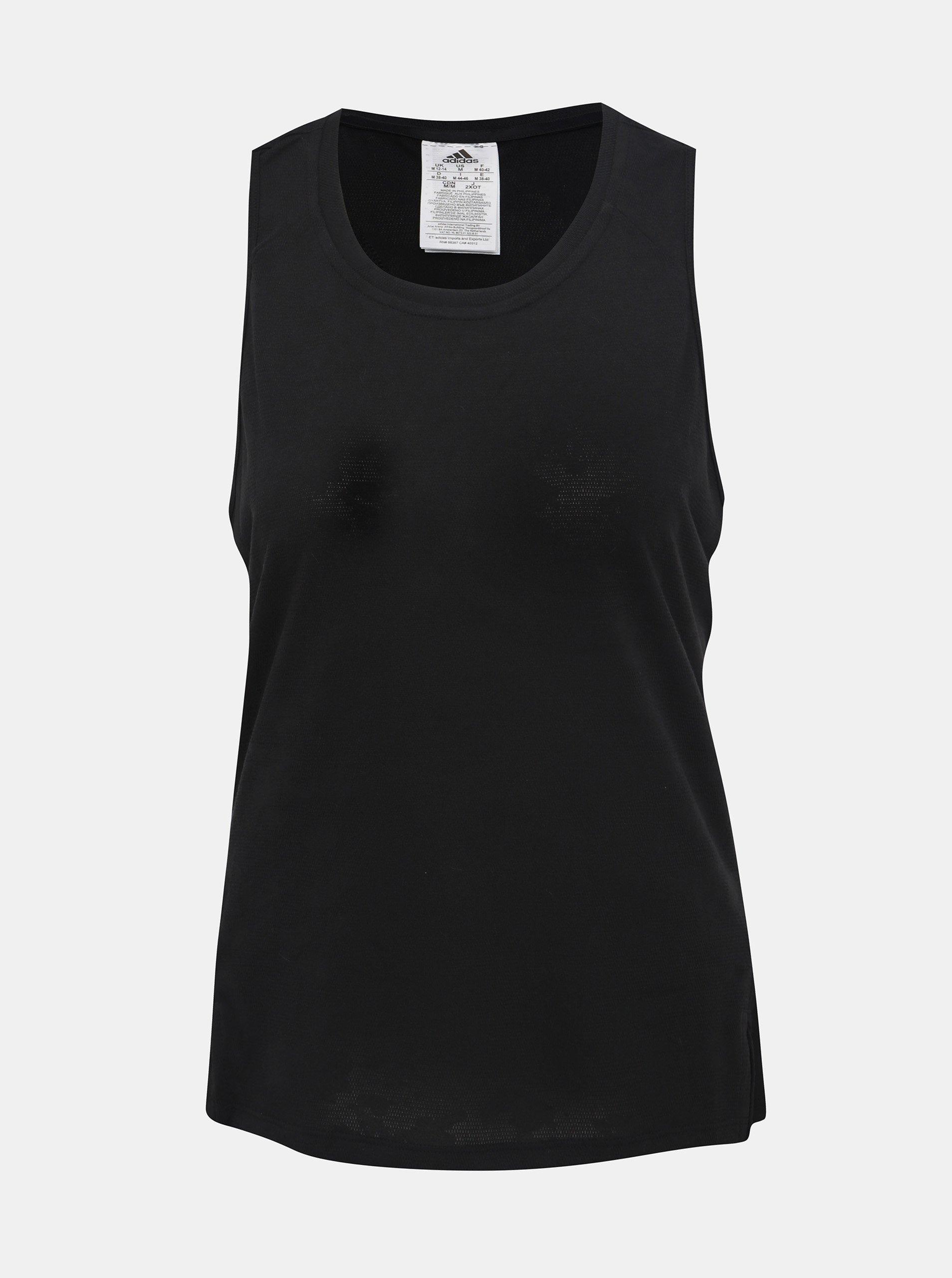 Čierne dámske funkčné tielko adidas Performance