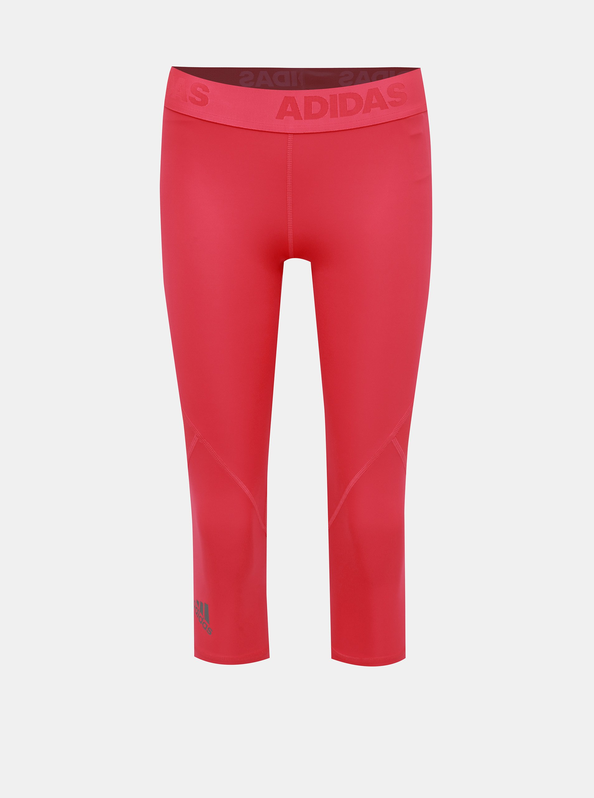 Rúžové dámske legíny adidas Performance