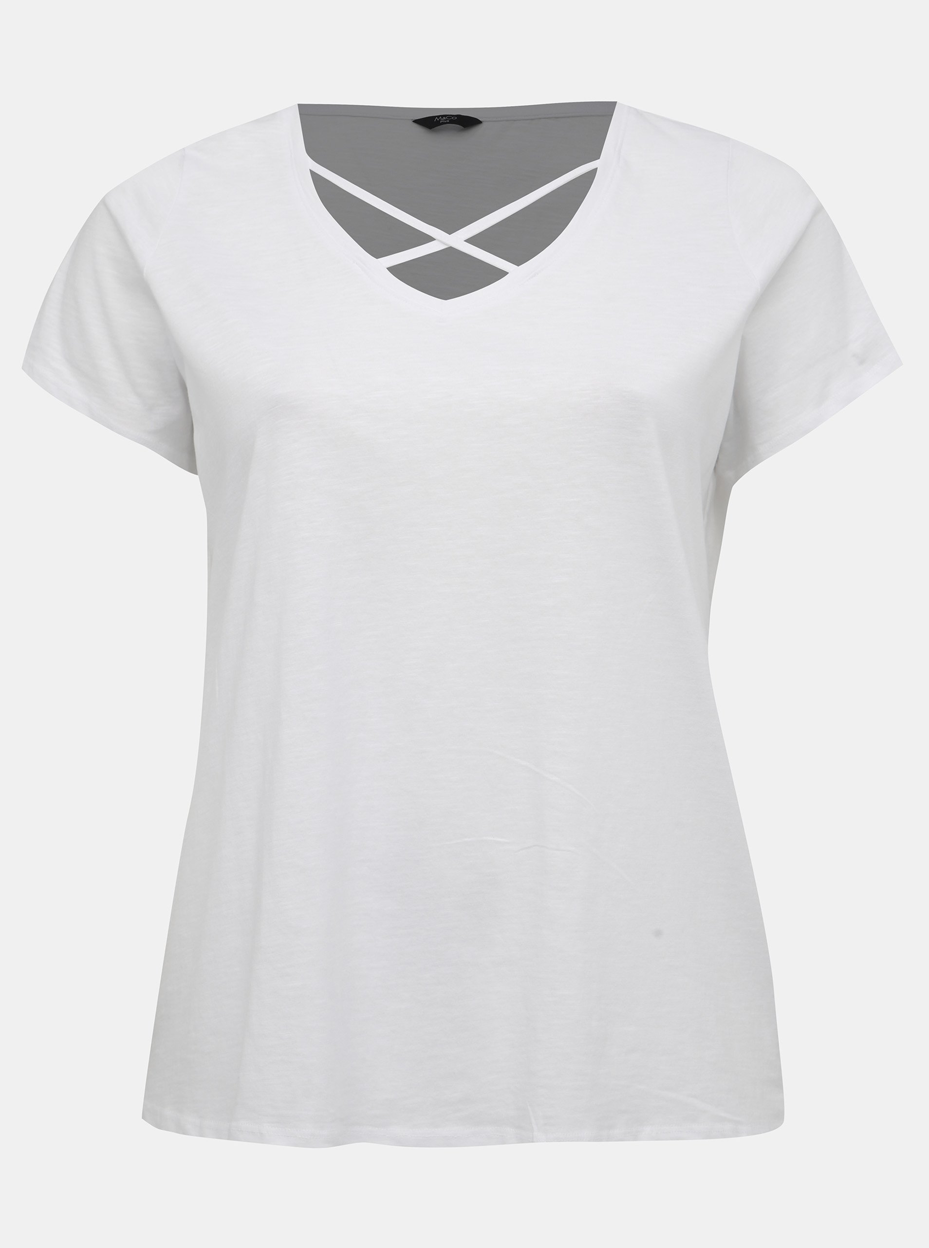 Fotografie Bílé dámské tričko M&Co Plus