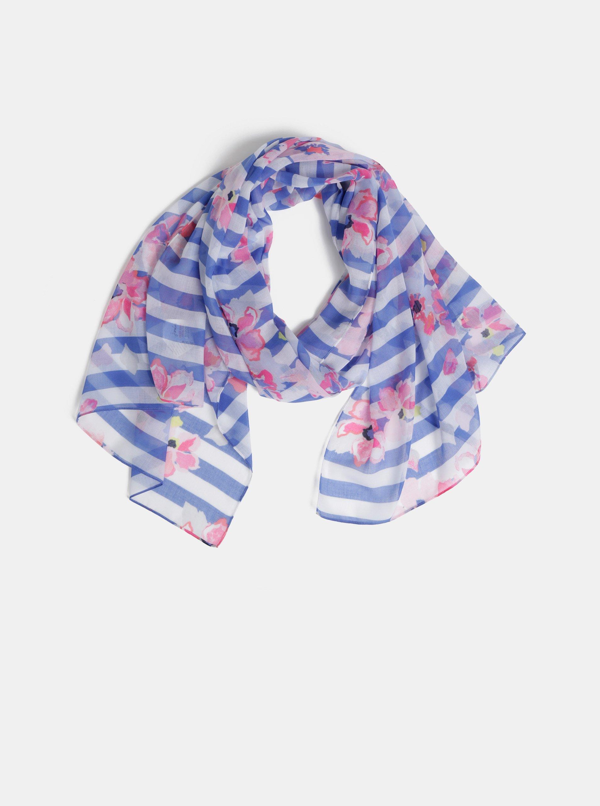3da704b3e Bílo-modrý vzorovaný šátek Joules Wensley