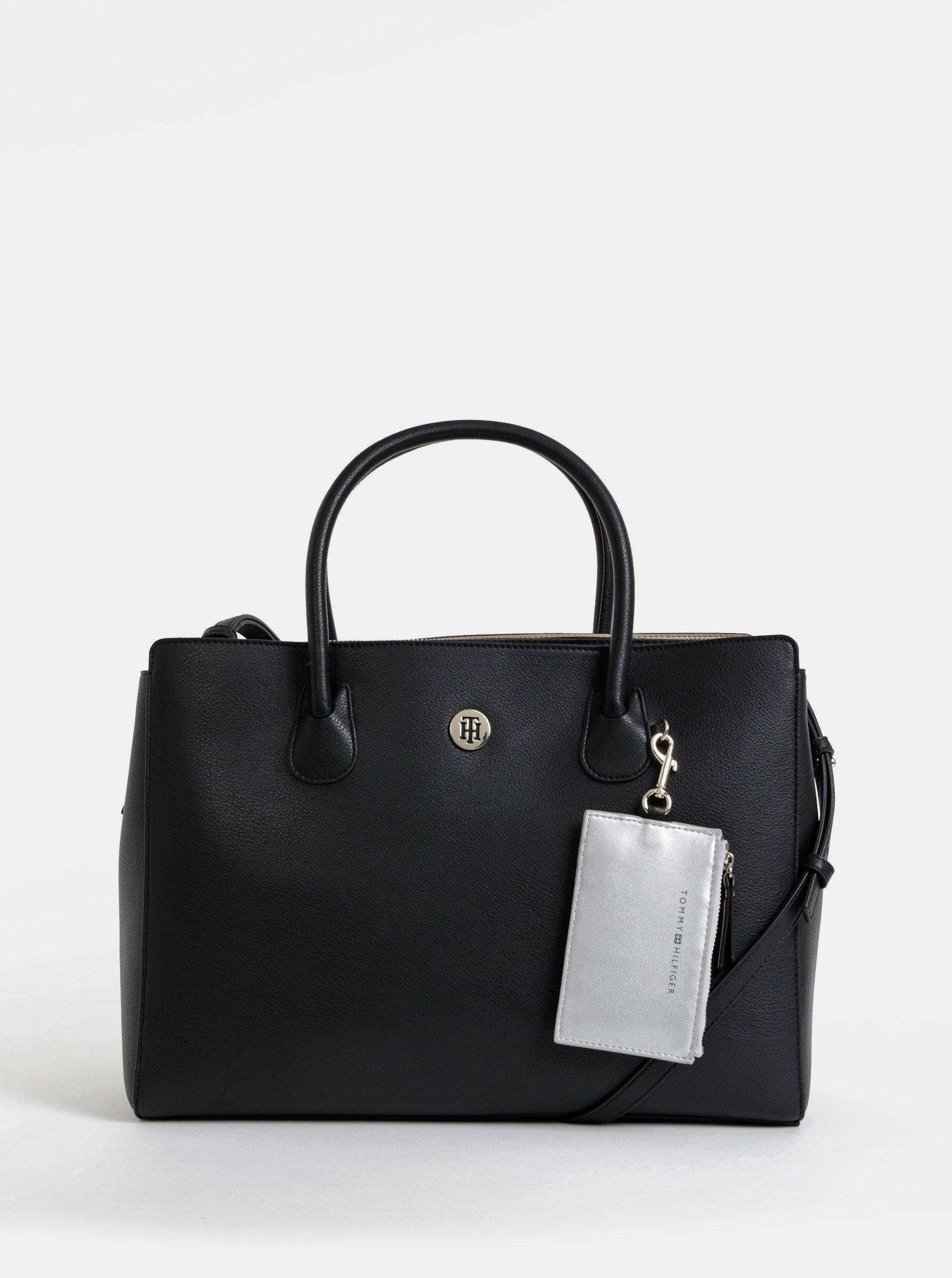 Černá kabelka s pouzdrem na notebook a peněženkou 3v1 Tommy Hilfiger Charming