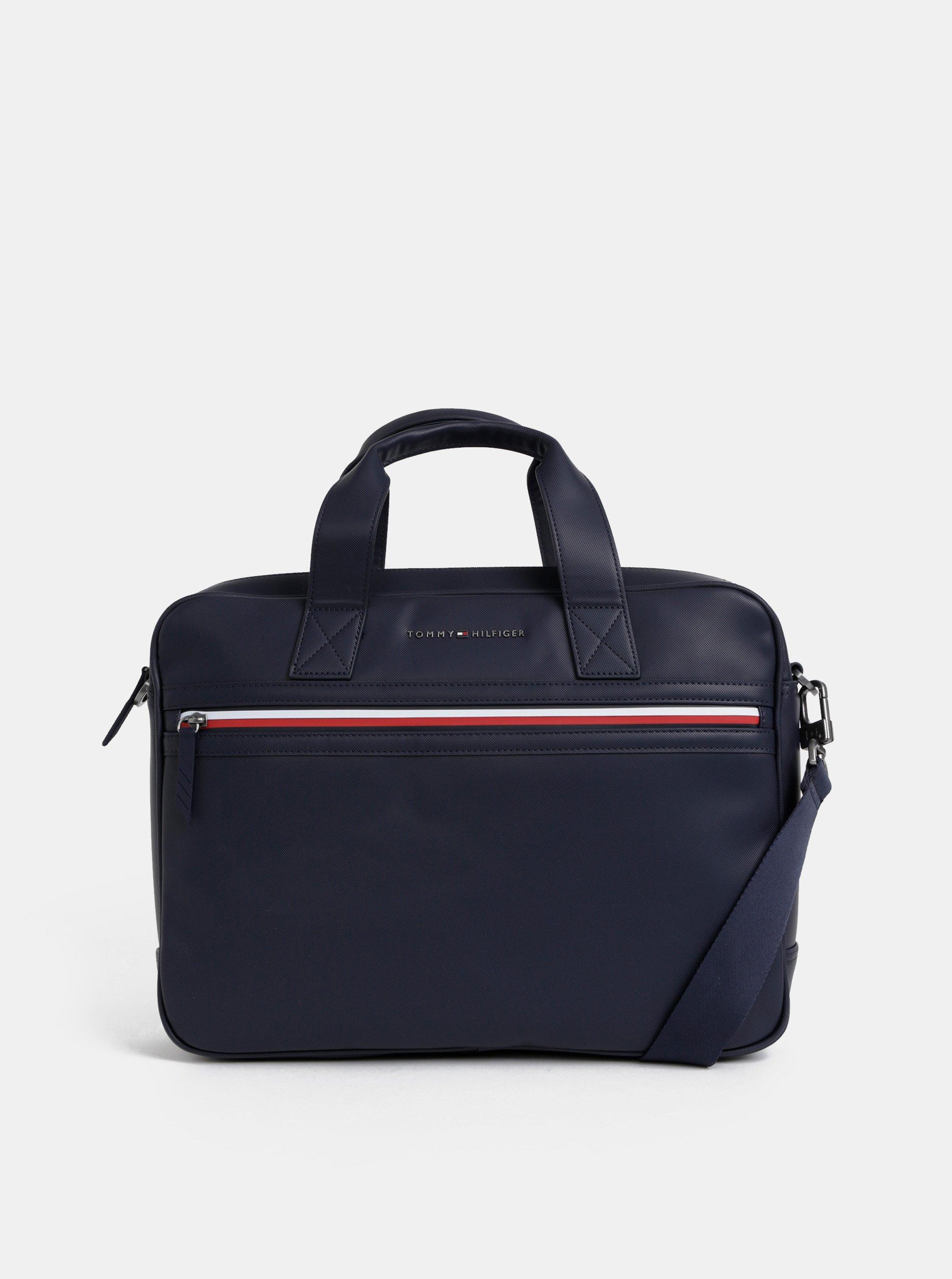 a002c5454 Tmavomodrá taška na notebook Tommy Hilfiger