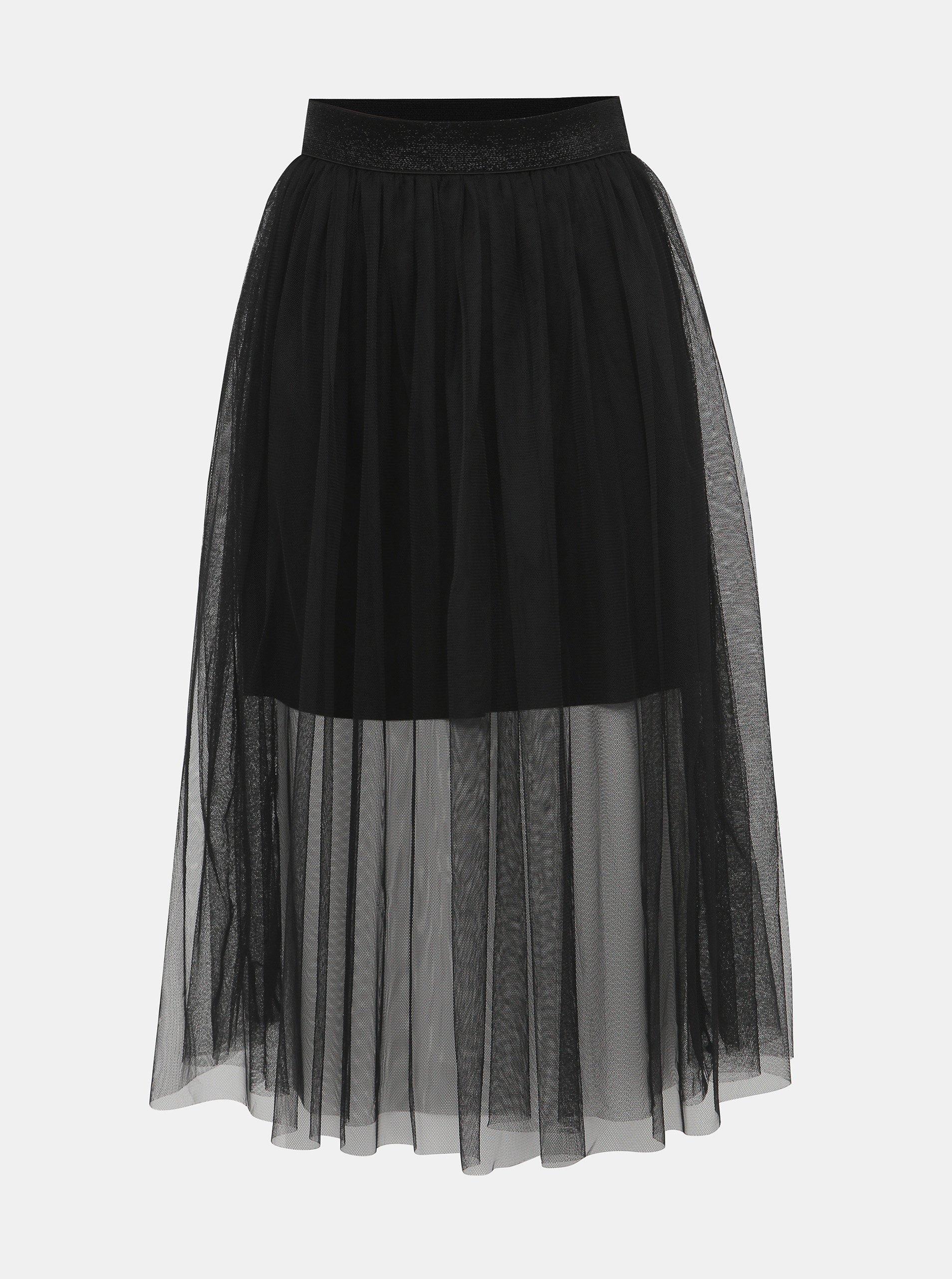Černá tylová midi sukně Haily´s Cardy