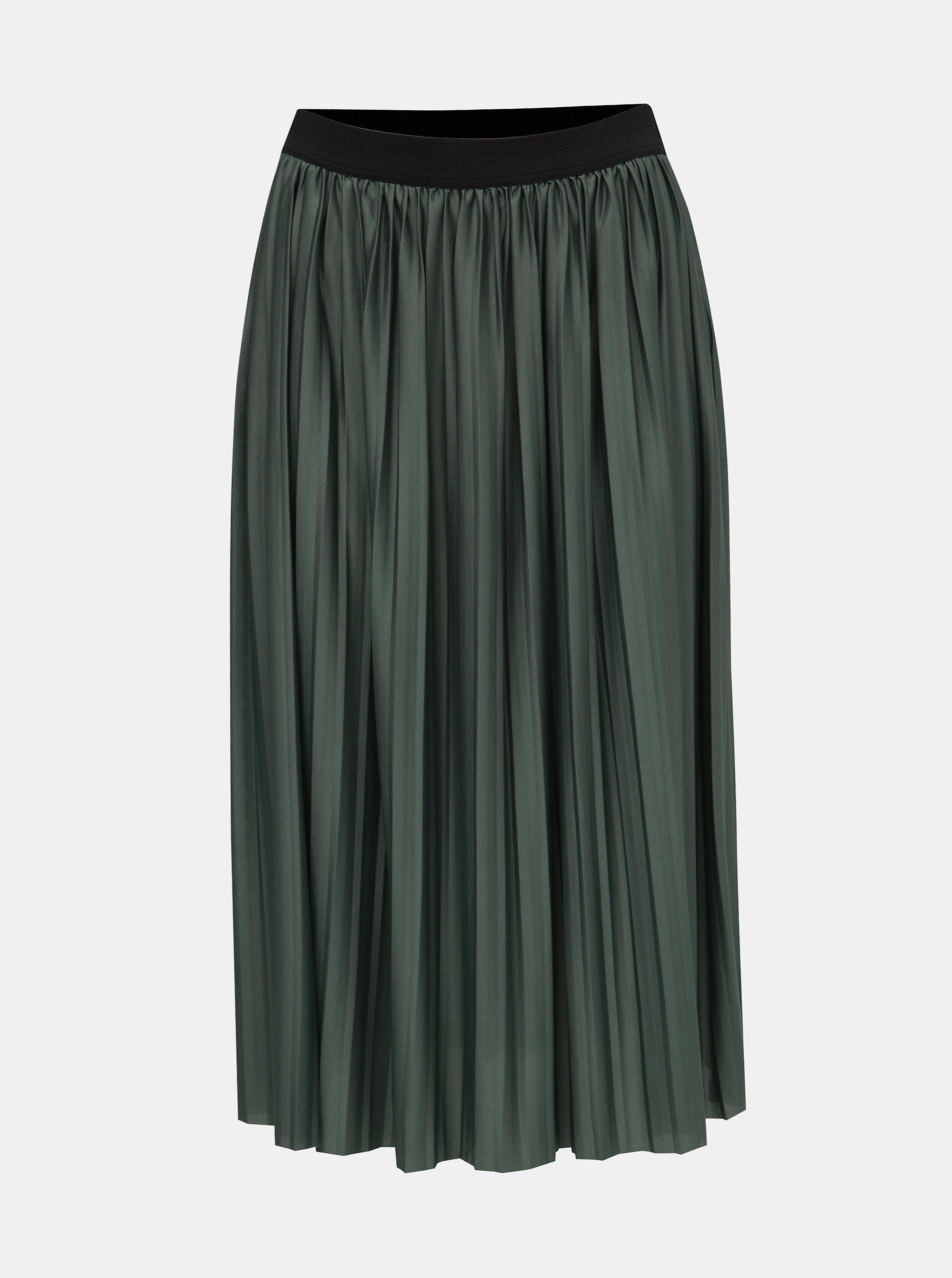 Zelená plisovaná sukně Jacqueline de Yong Boa